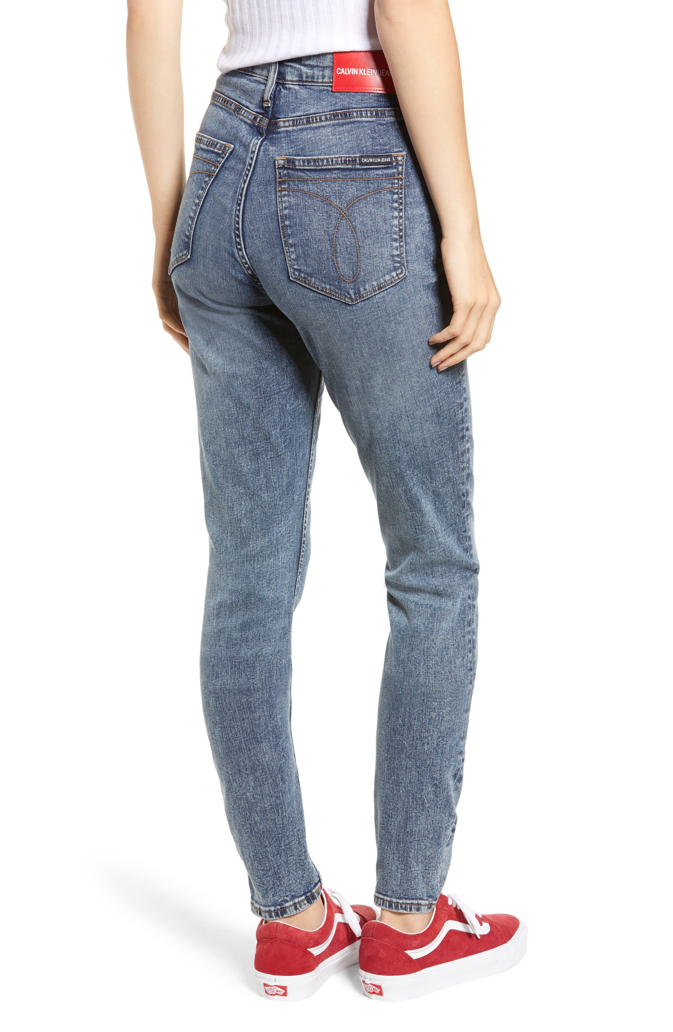 High Waist Skinny Jeans,                             Alternate thumbnail 2, color,                             400