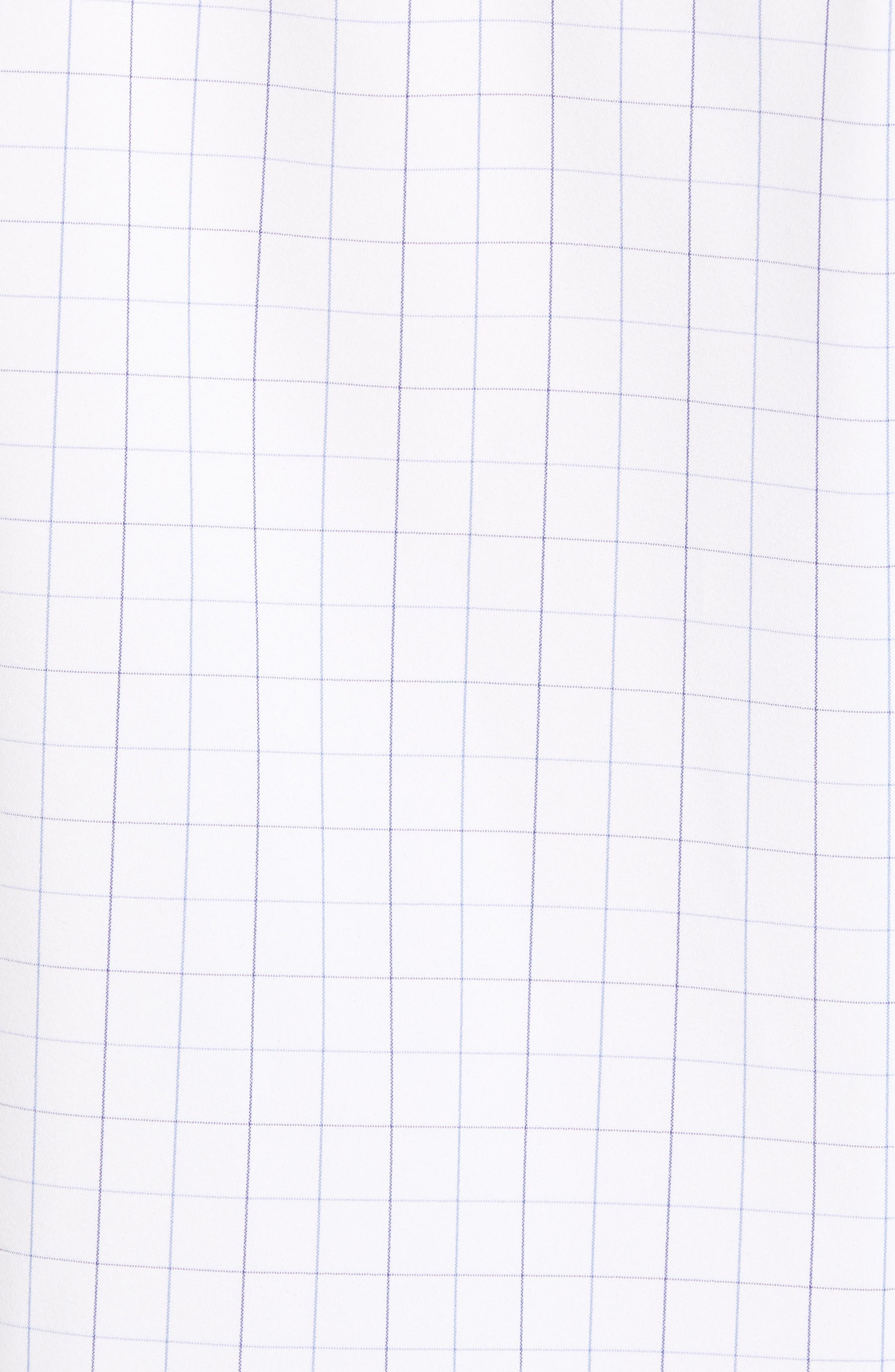 Buckner Slim Fit Grid Performance Sport Shirt,                             Alternate thumbnail 5, color,                             400