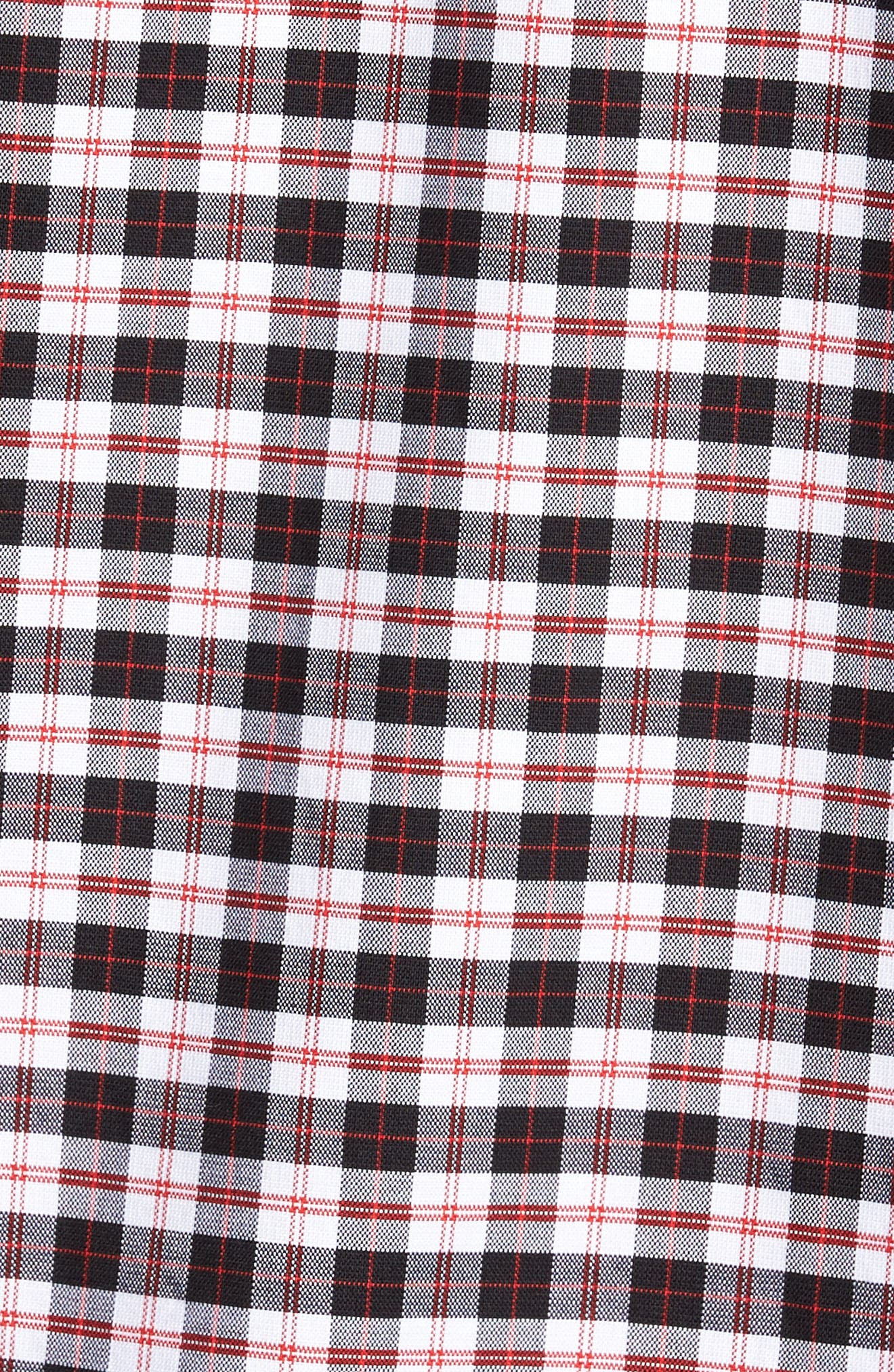 Rod Trim Fit Check Oxford Sport Shirt,                             Alternate thumbnail 5, color,                             001