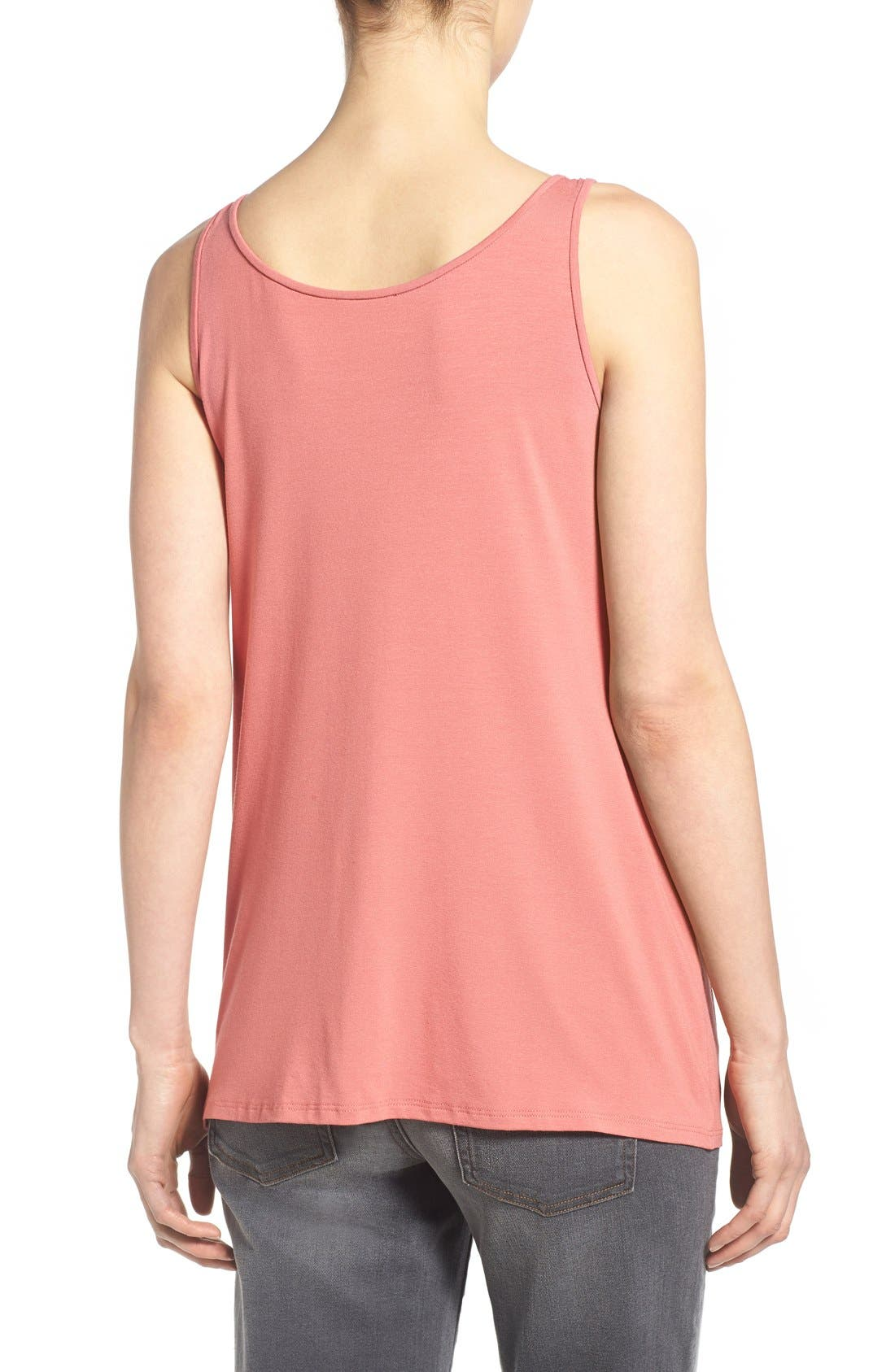 Jersey Scoop Neck Long Tank,                             Alternate thumbnail 45, color,