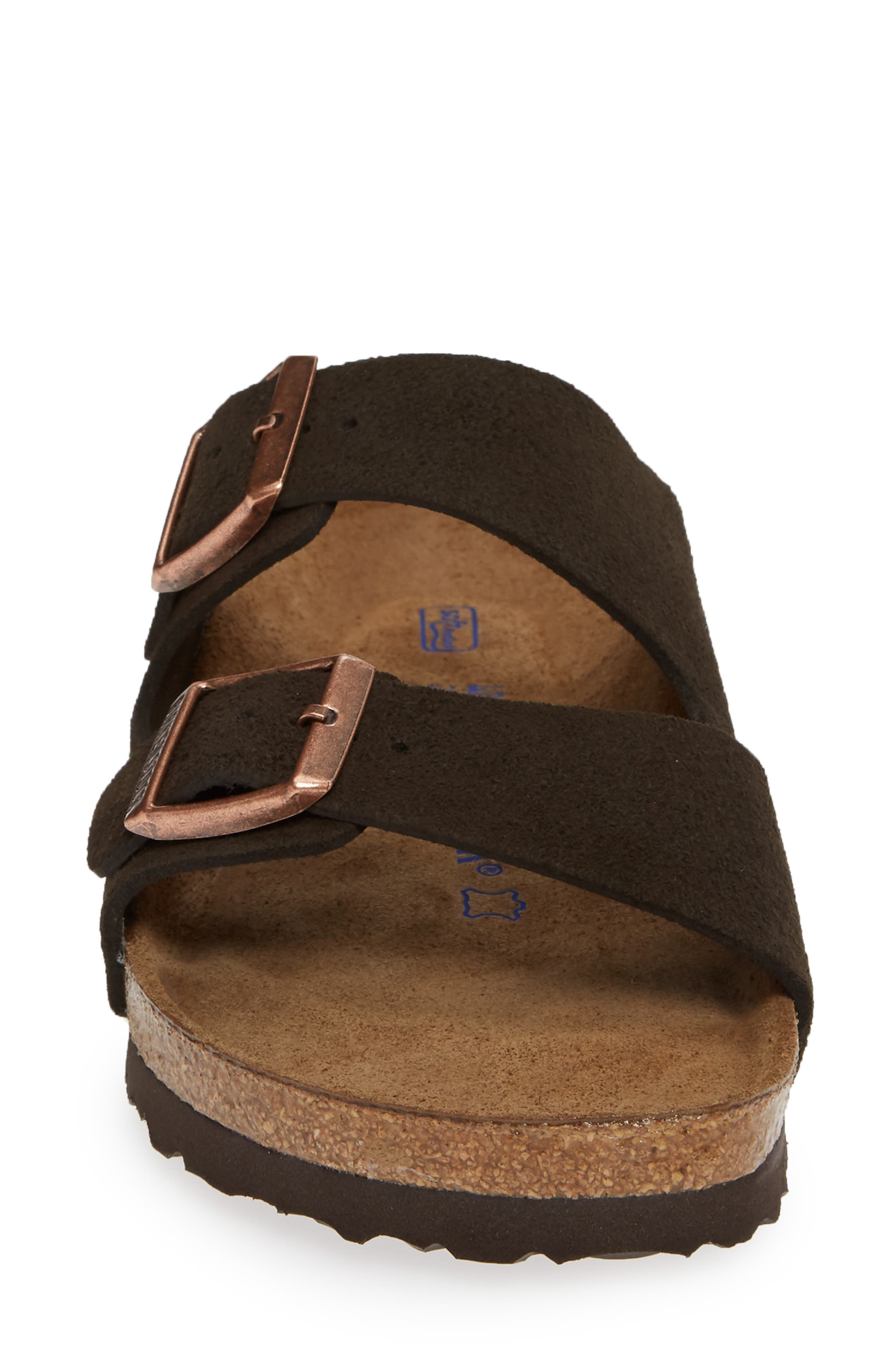 'Arizona' Soft Footbed Suede Sandal,                             Alternate thumbnail 4, color,                             MOCHA SUEDE
