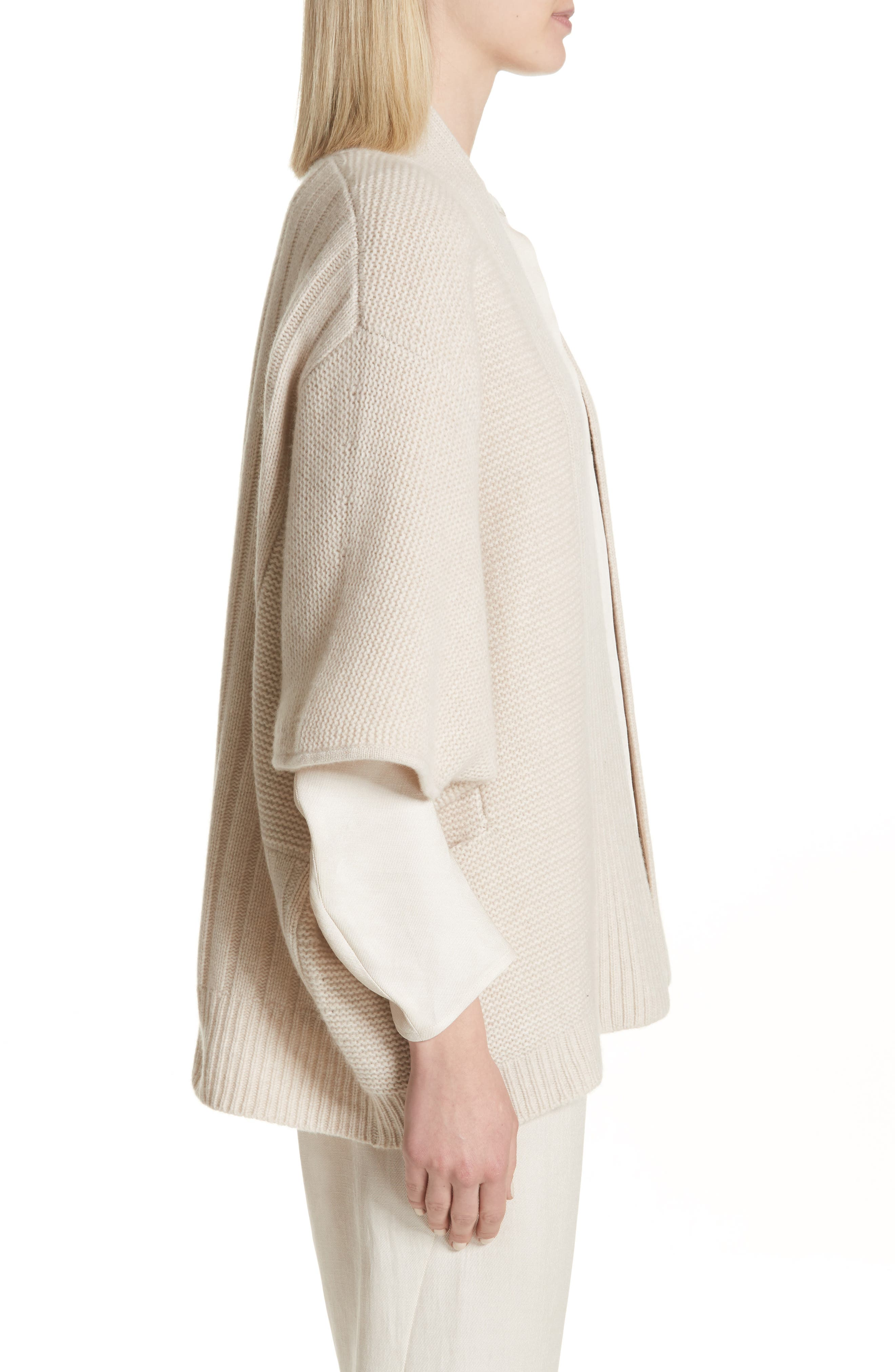 Cashmere & Merino Wool Cardigan,                             Alternate thumbnail 3, color,