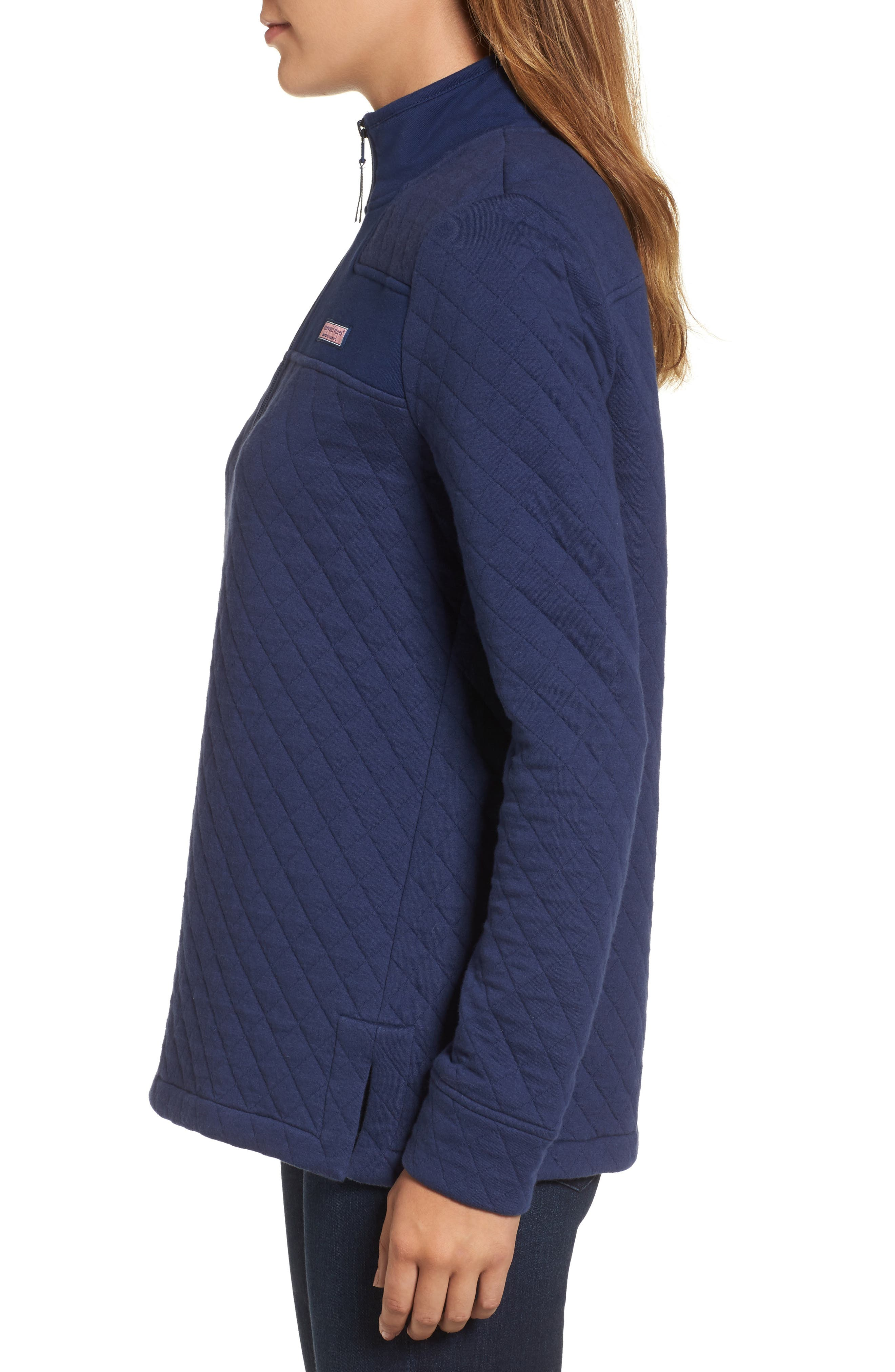 Shep Quilted Quarter Zip Pullover,                             Alternate thumbnail 9, color,