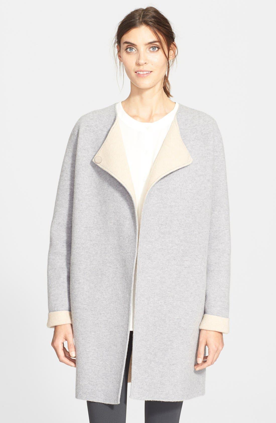 THEORY,                             'Nyma K' Merino Wool Blend Coat,                             Main thumbnail 1, color,                             092