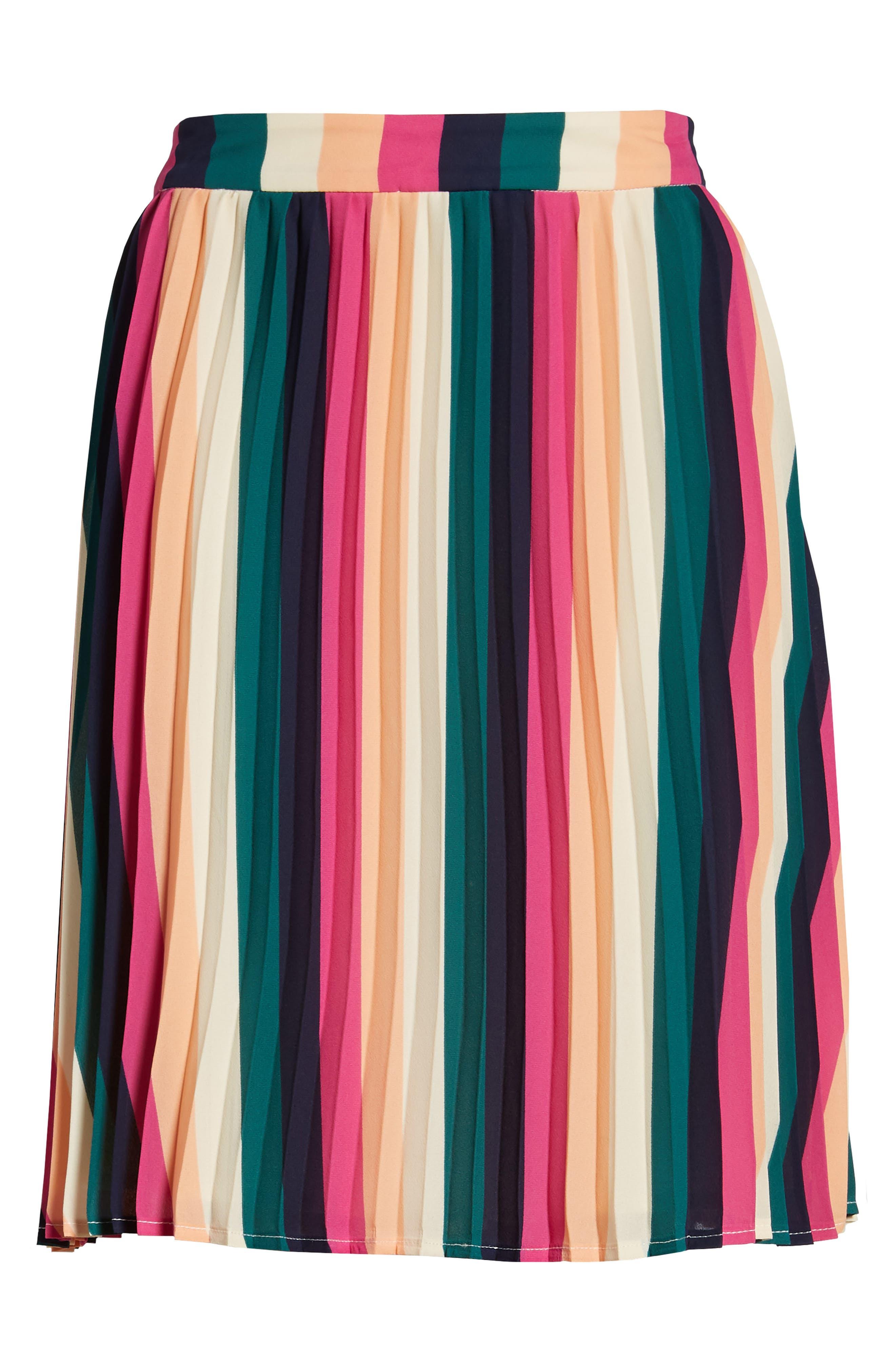 x Hi Sugarplum! Navio Pleat Skirt,                             Alternate thumbnail 6, color,                             007