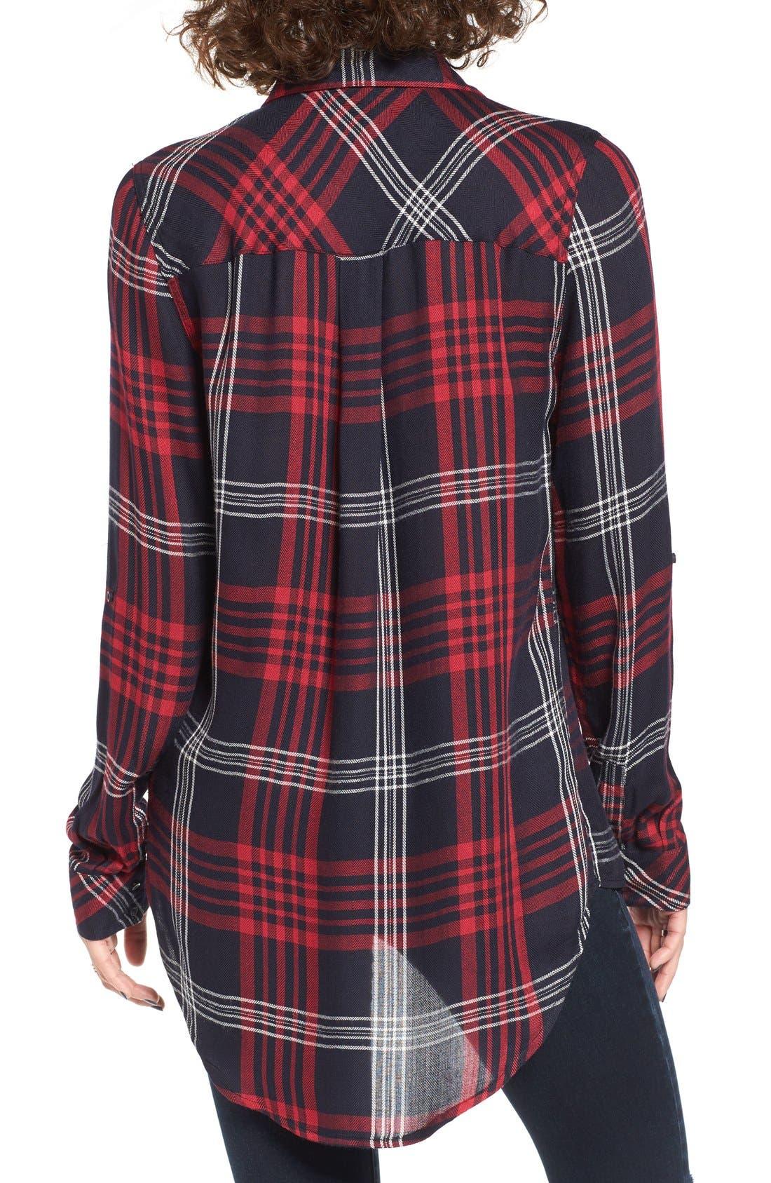 THREAD & SUPPLY,                             Lucia Plaid Shirt,                             Alternate thumbnail 3, color,                             011