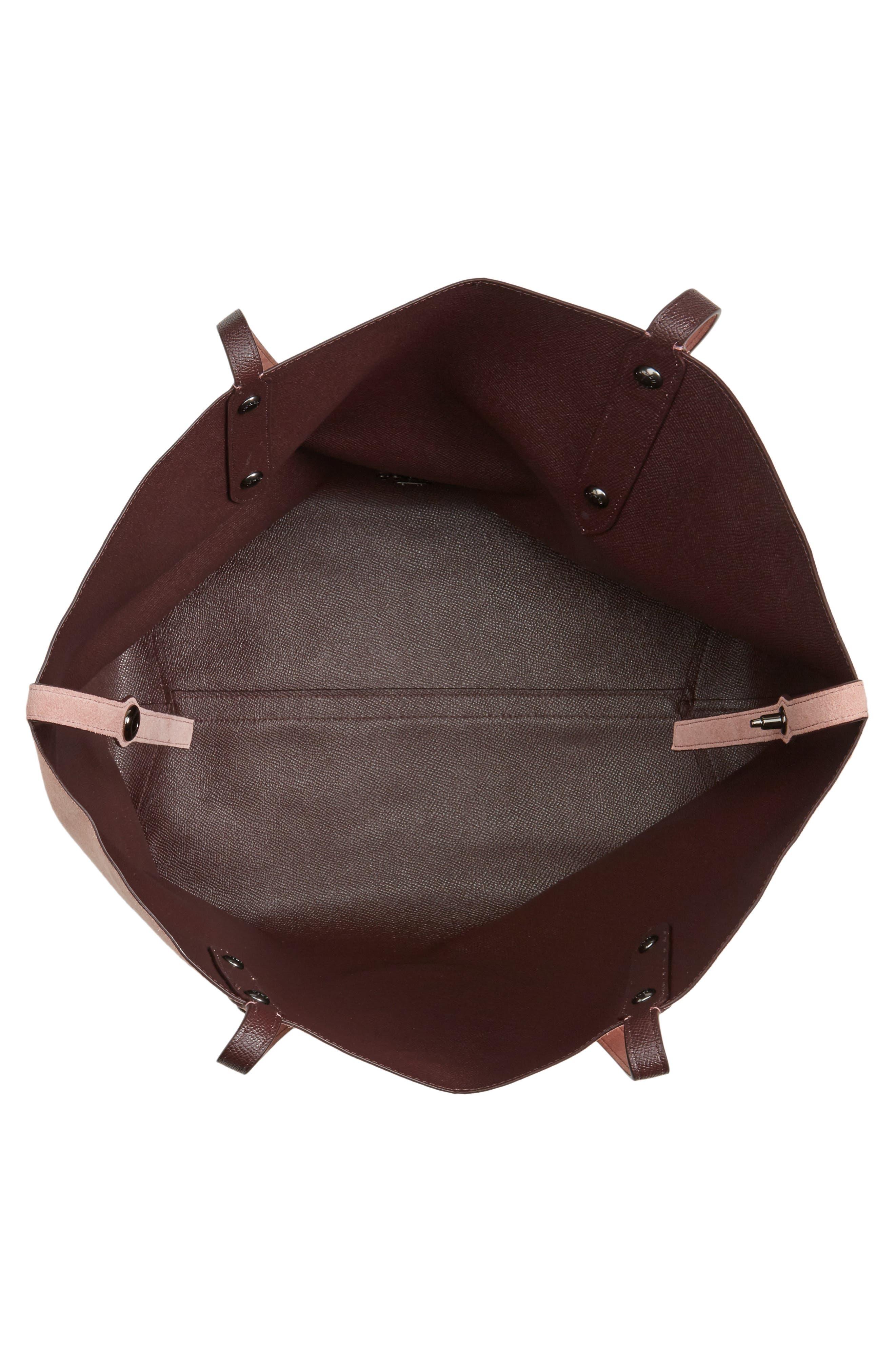 Large Market Reversible Leather Tote,                             Alternate thumbnail 23, color,