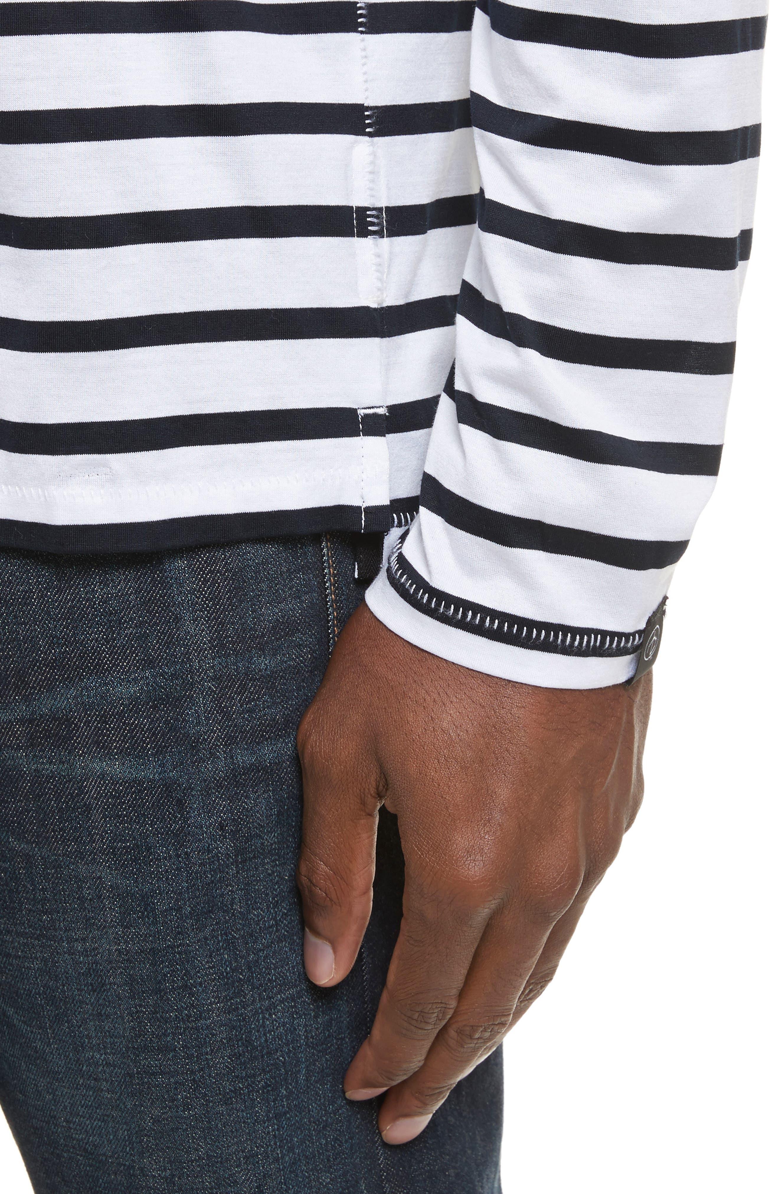 Henry Stripe Long Sleeve T-Shirt,                             Alternate thumbnail 4, color,                             182