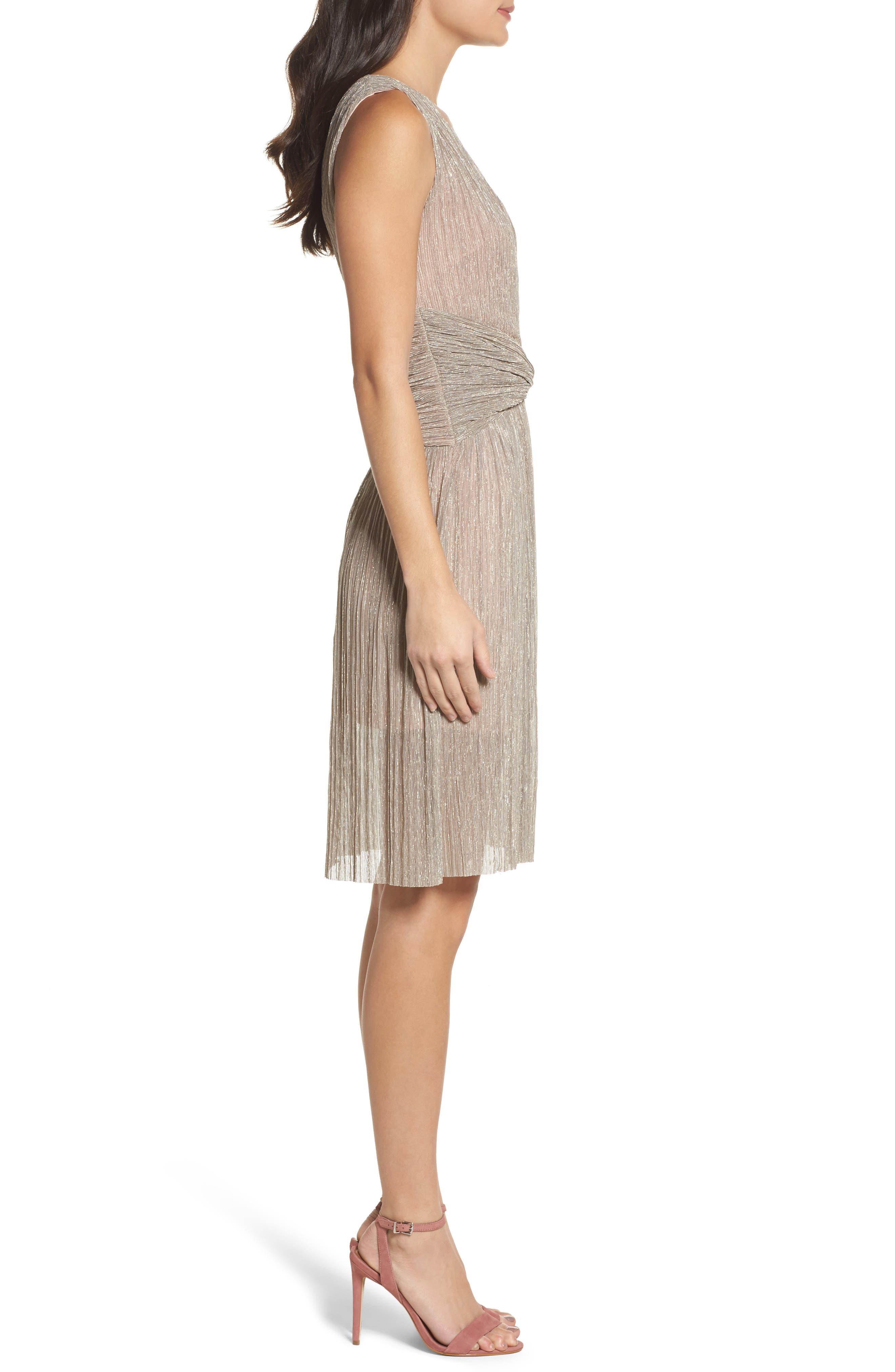 Marcelle Fit & Flare Dress,                             Alternate thumbnail 6, color,