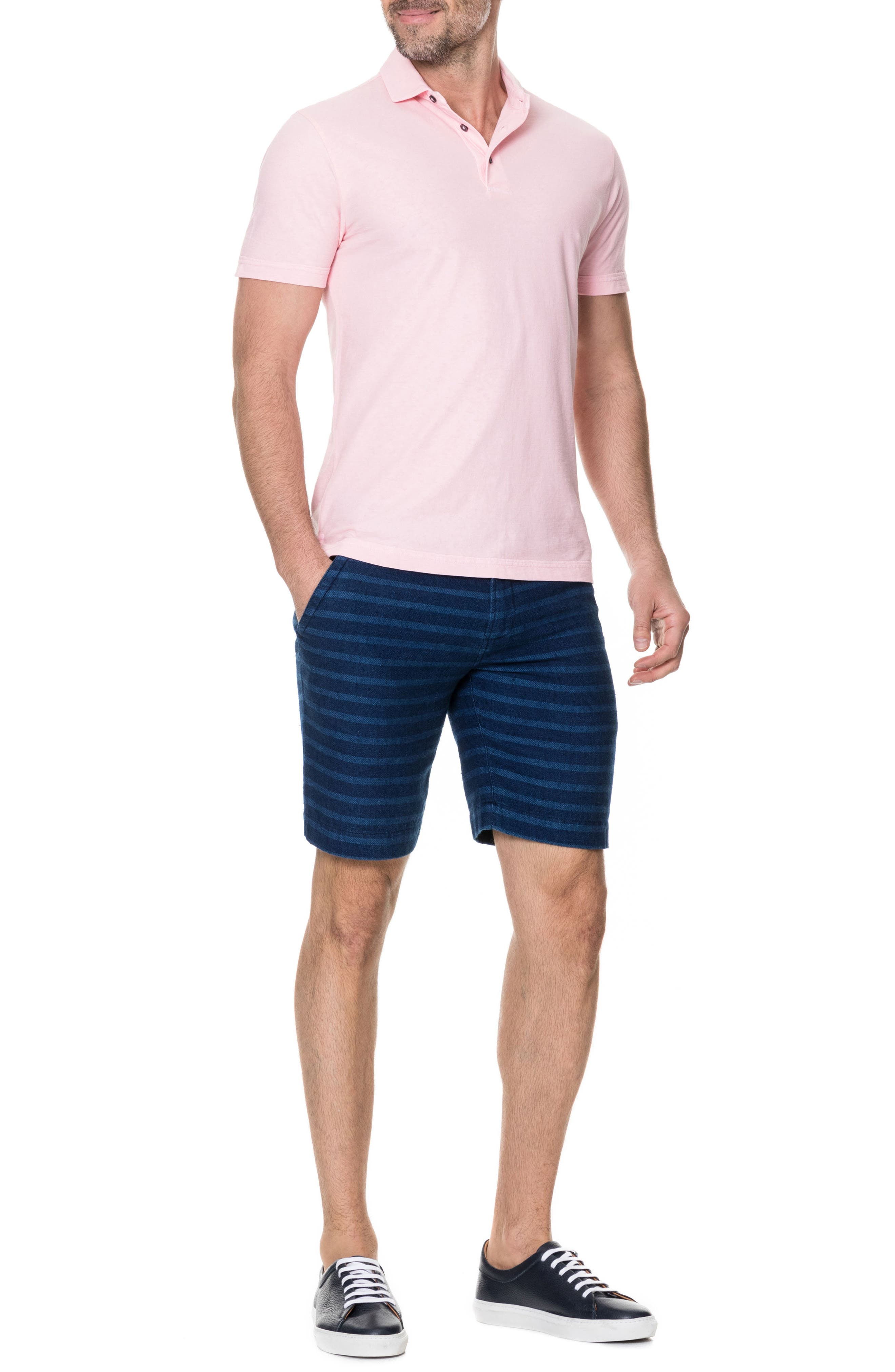 Wilsons Bay Sports Fit Polo,                             Alternate thumbnail 5, color,                             ROSE