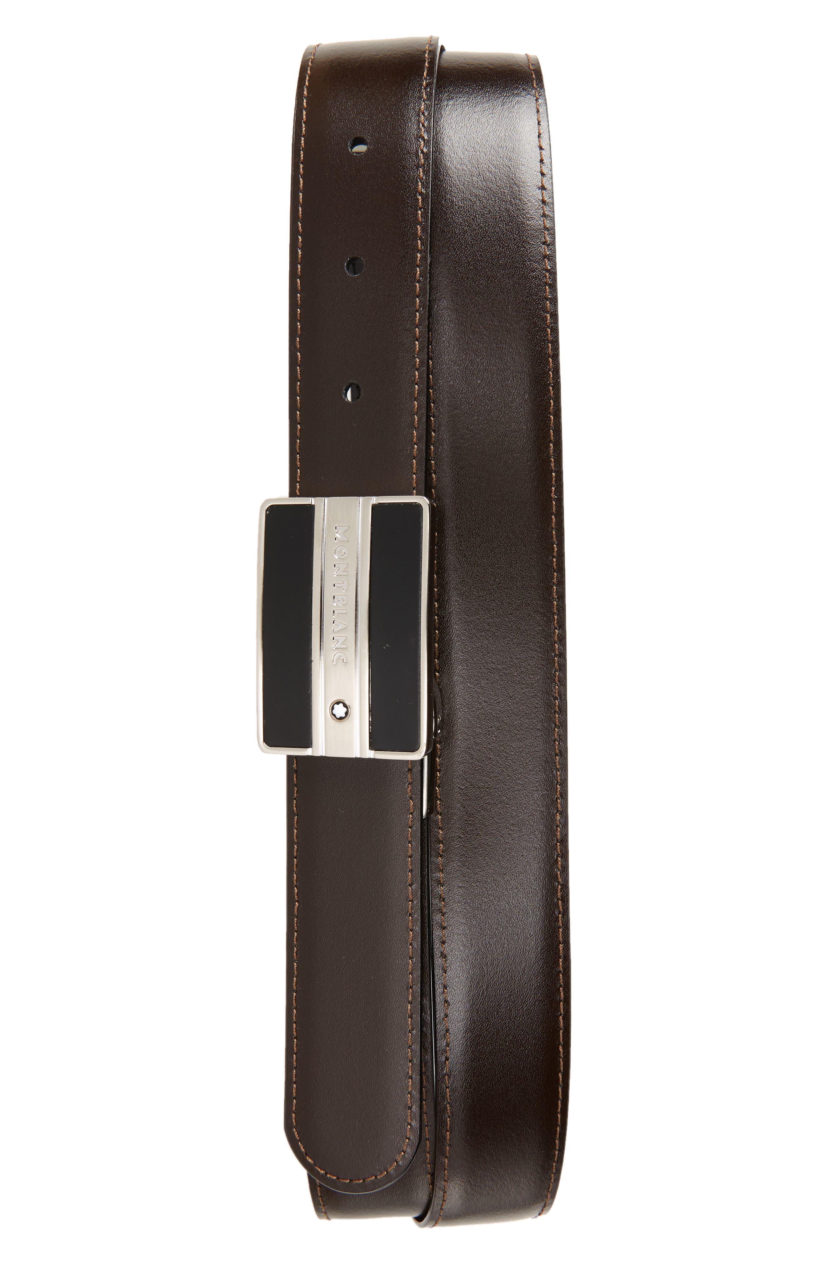 Meisterstück Buckle Reversible Leather Belt,                             Alternate thumbnail 2, color,