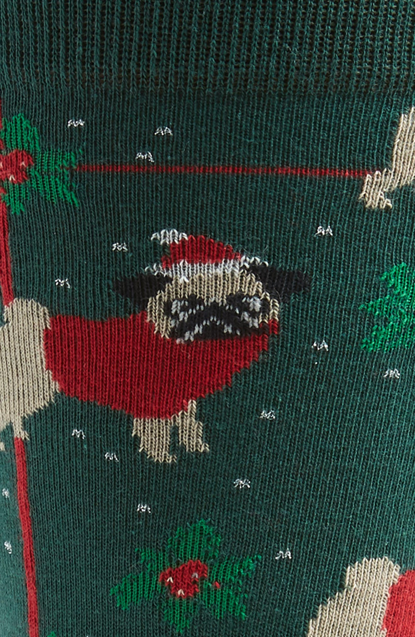 Holiday Santa Pug Socks,                             Alternate thumbnail 2, color,                             301