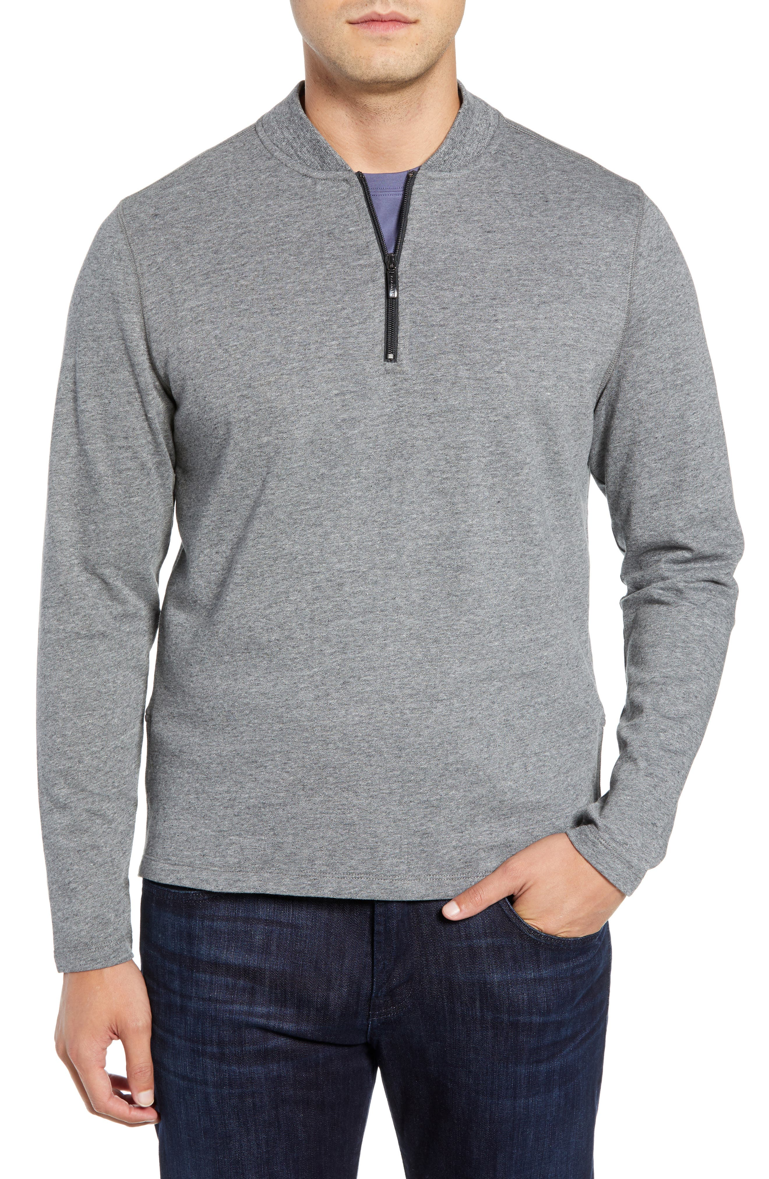 Carney Quarter Zip Sweatshirt,                         Main,                         color, MID GREY