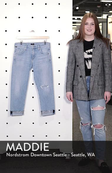 Emerson Ripped Crop Slim Boyfriend Jeans, sales video thumbnail