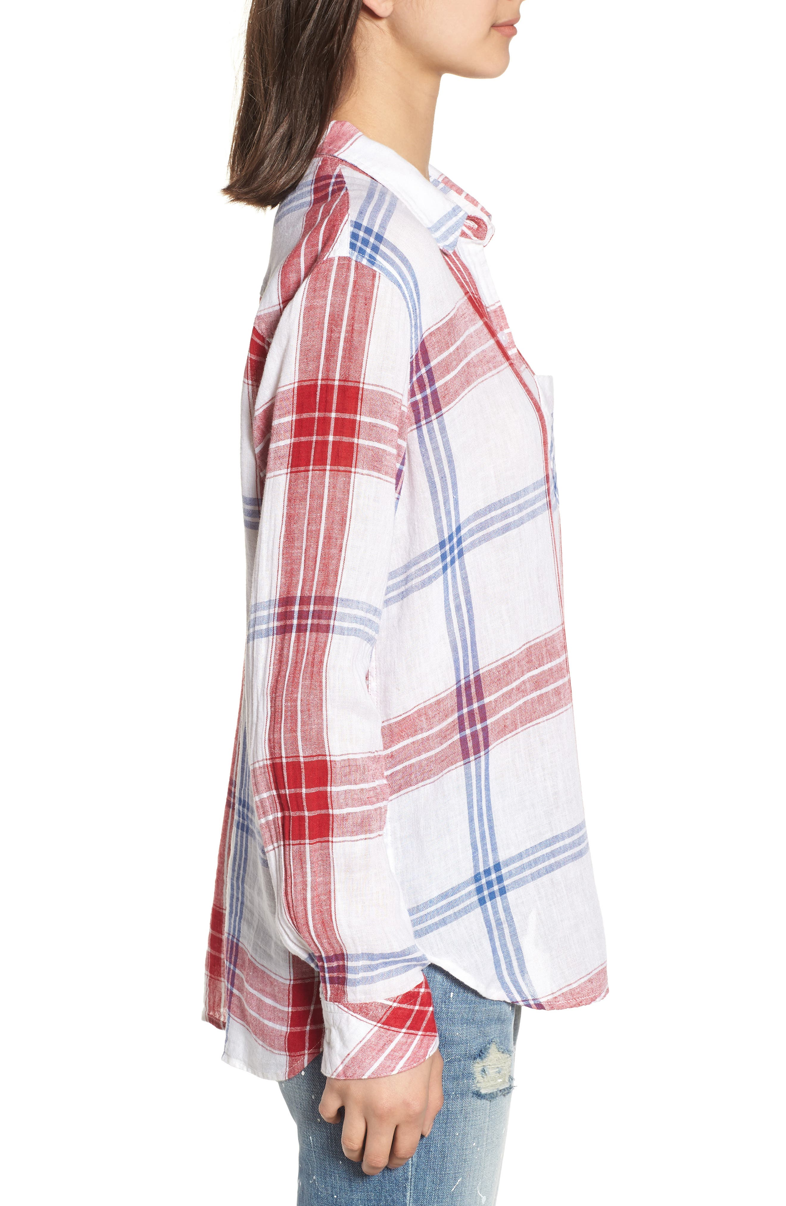 Charli Shirt,                             Alternate thumbnail 3, color,                             CARMINE BLUE WHITE