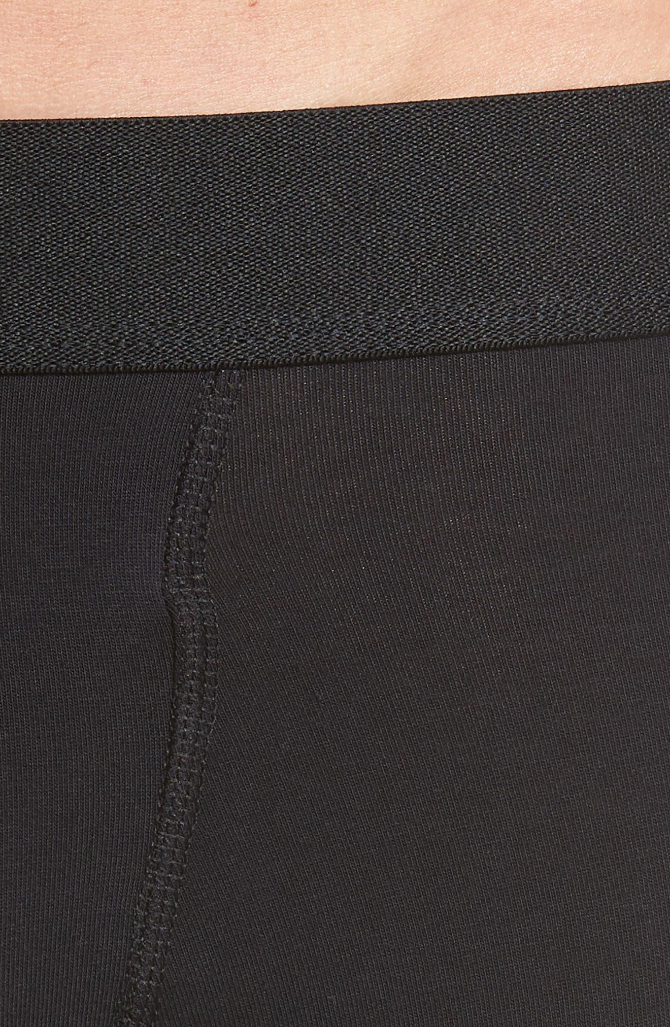 Smith Cotton Boxer Briefs,                             Alternate thumbnail 4, color,                             BLACK