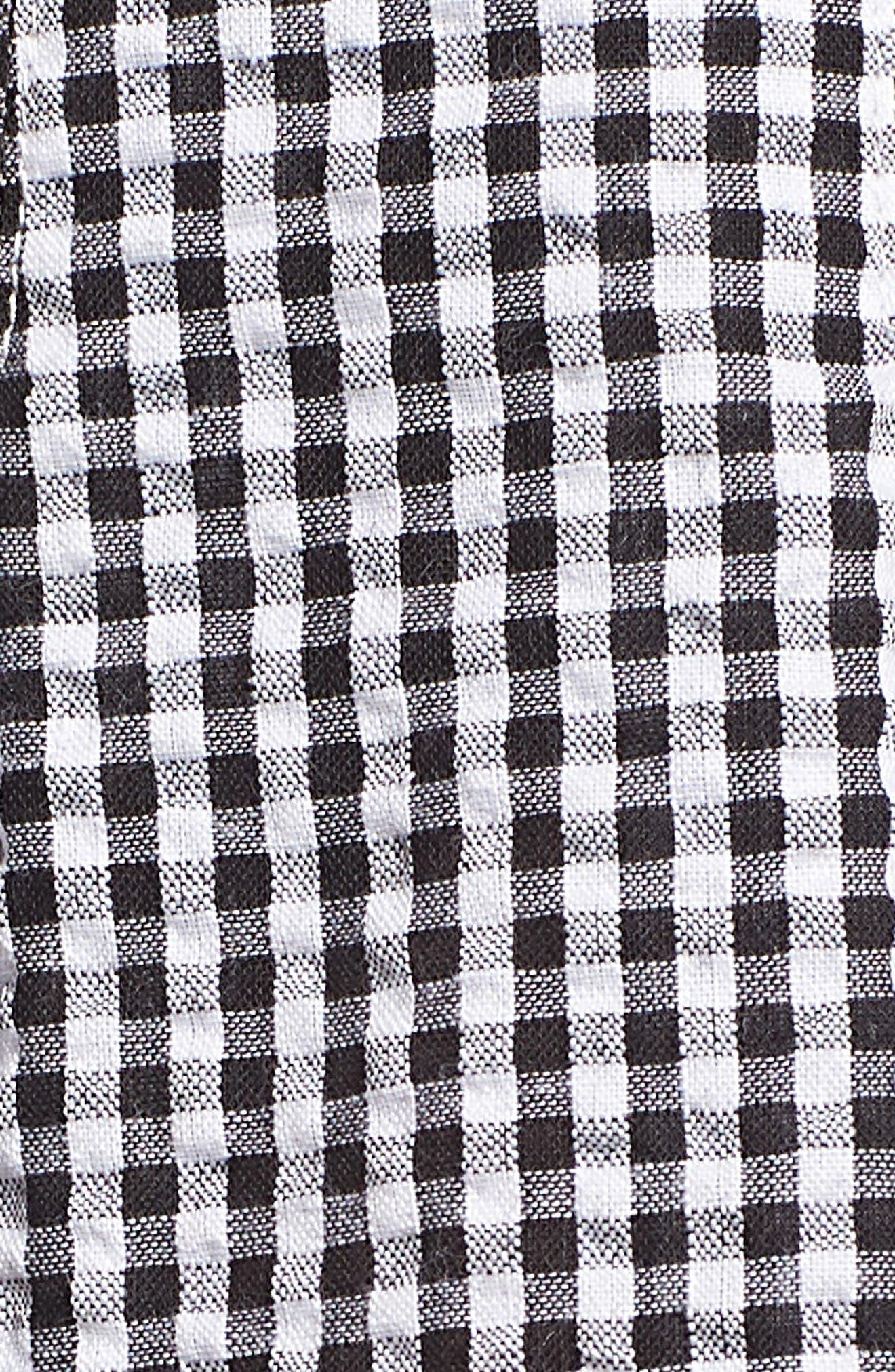 Gingham Paperbag Shorts,                             Alternate thumbnail 5, color,