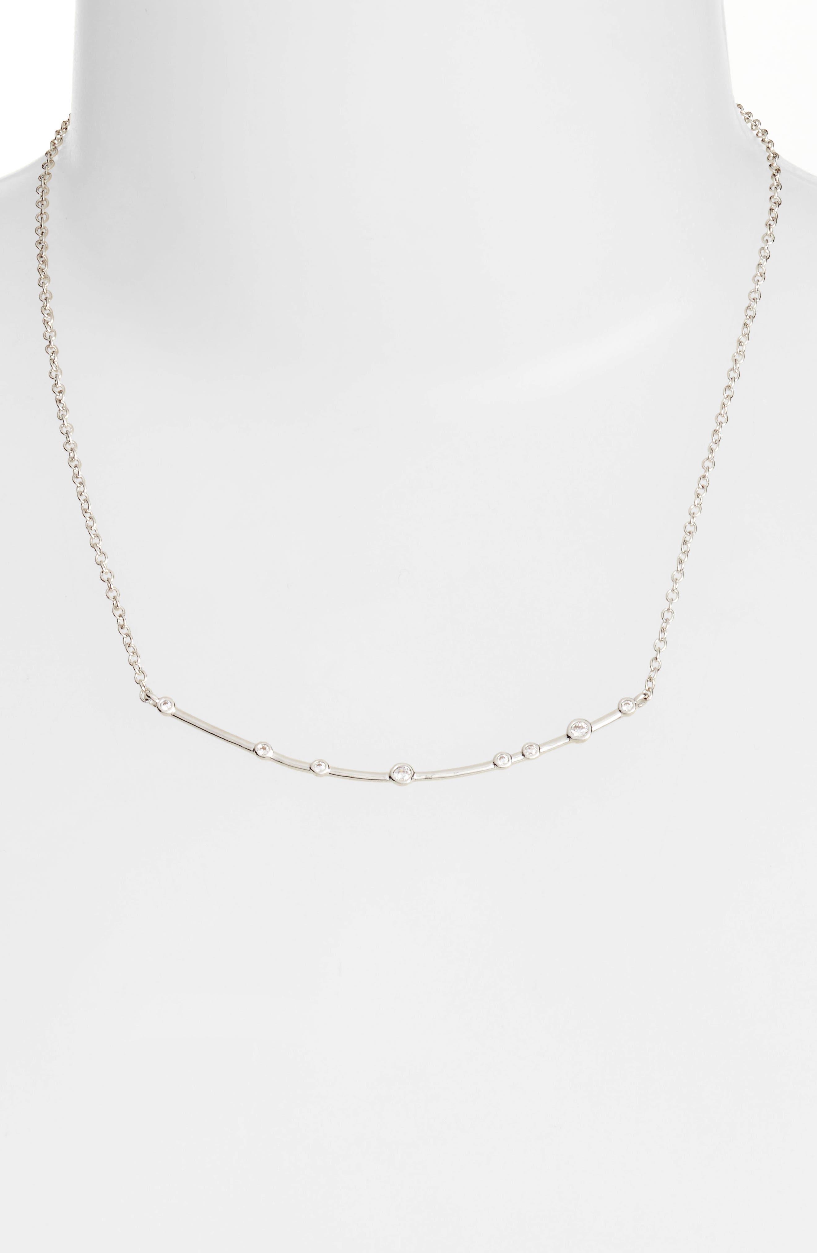 Crescent Necklace,                         Main,                         color, 040