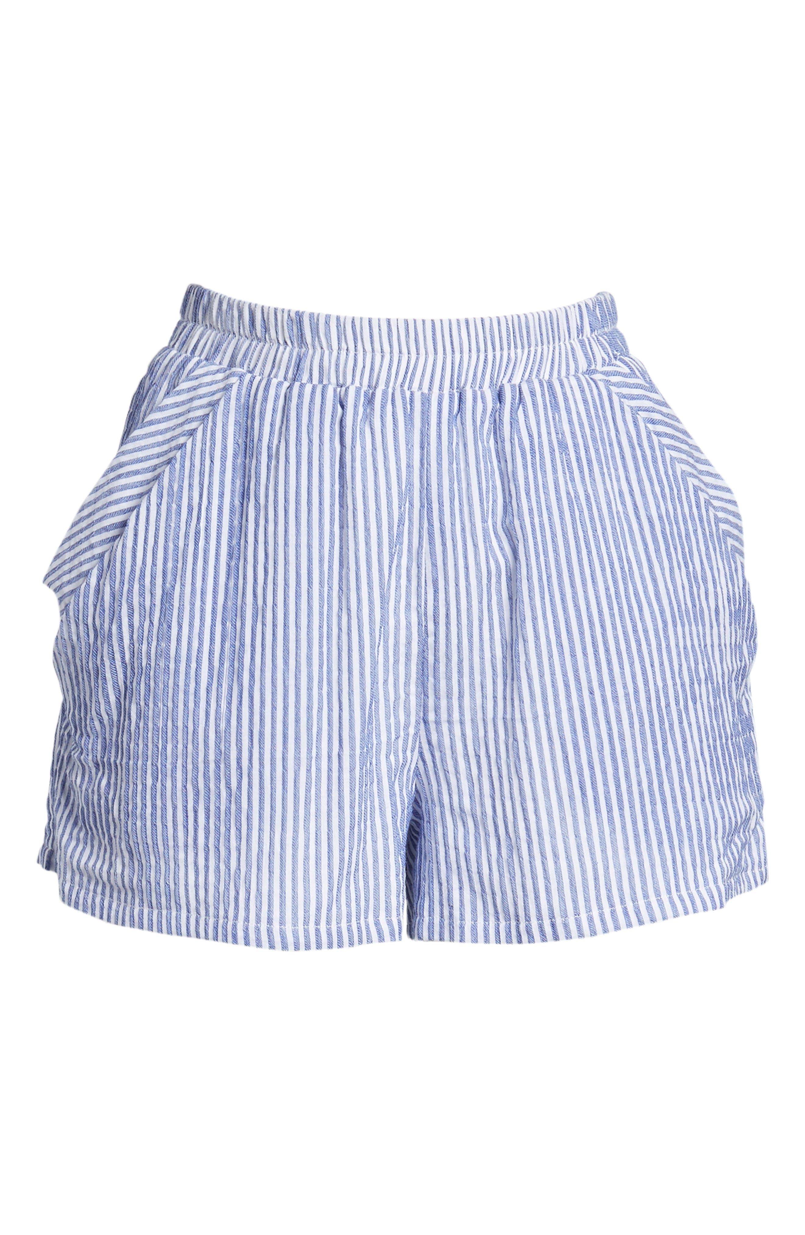 BISHOP + YOUNG,                             Stripe Shorts,                             Alternate thumbnail 6, color,                             400
