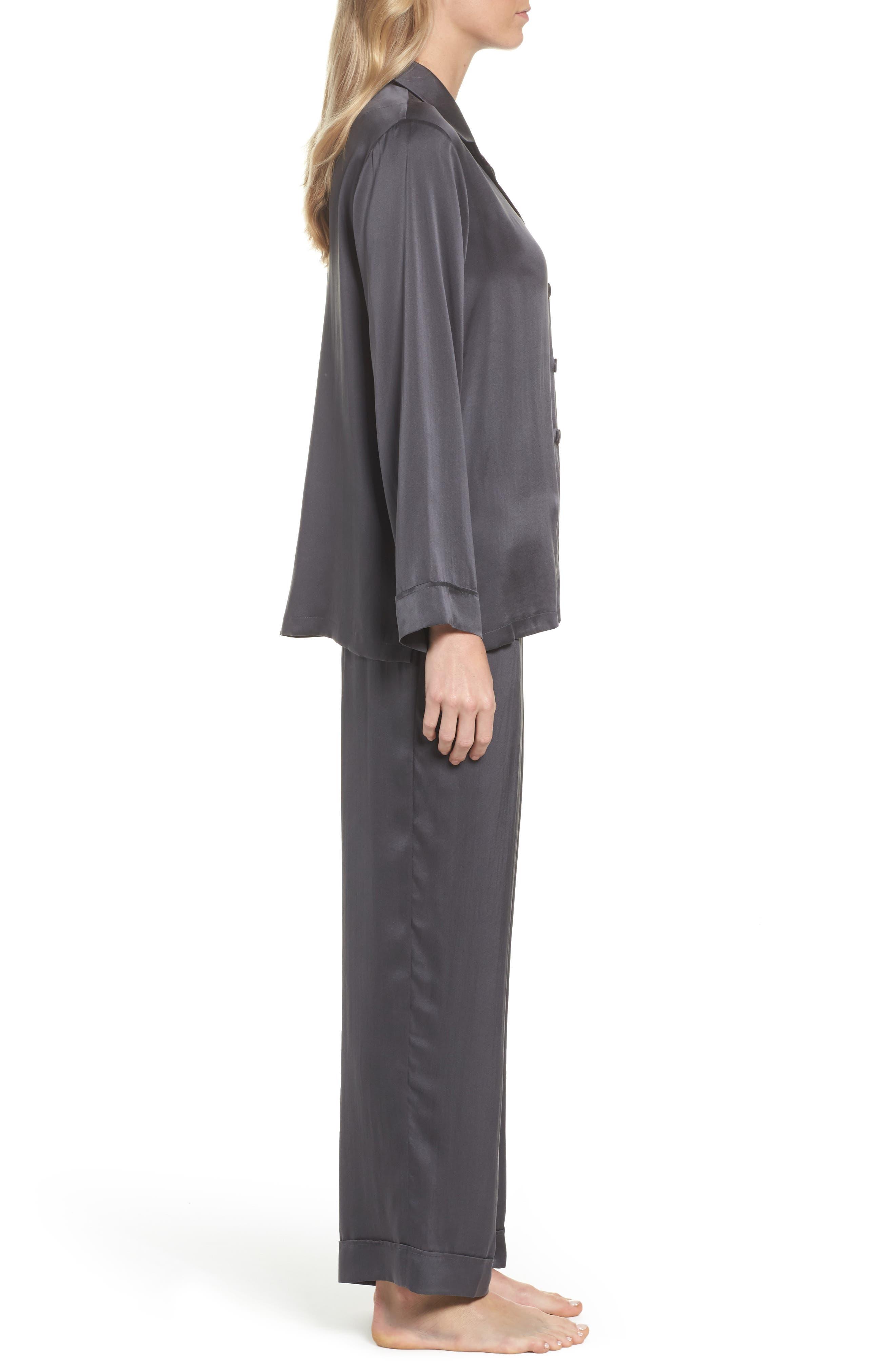 Silk Pajamas,                             Alternate thumbnail 3, color,                             020