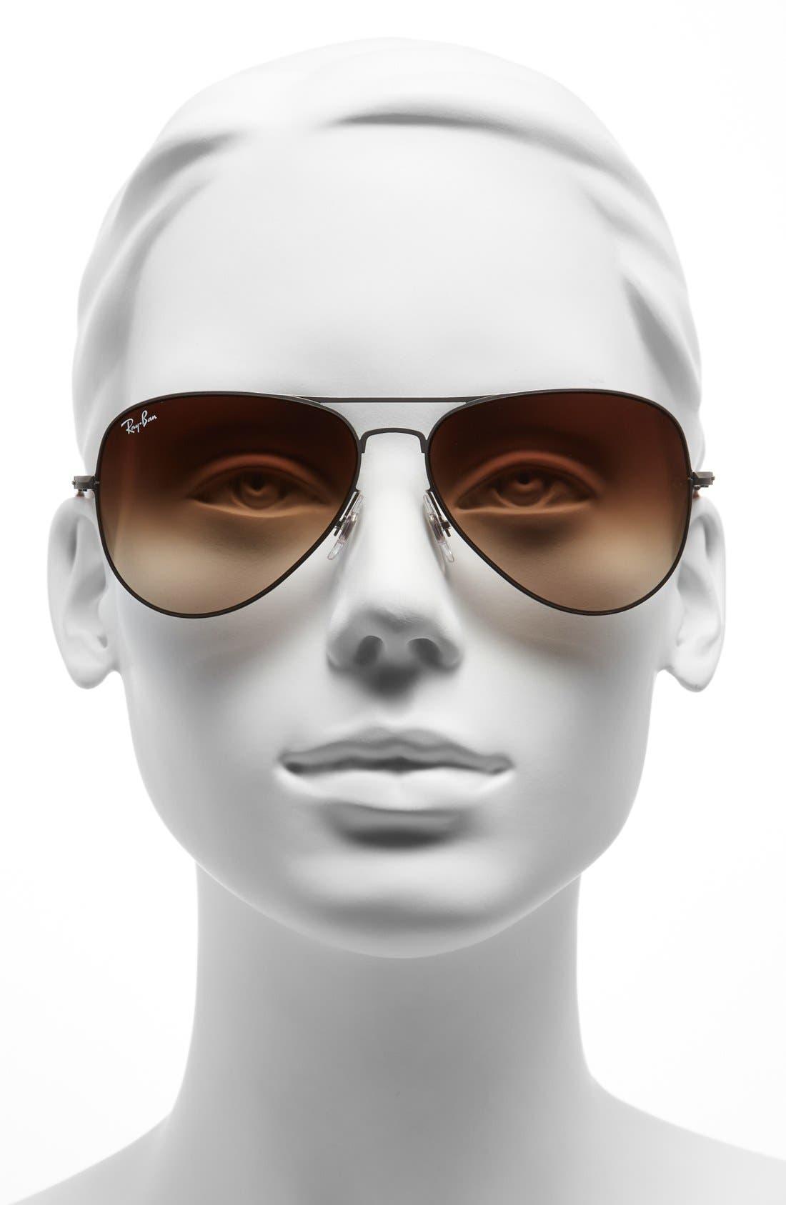 58mm Steel Aviator Sunglasses,                             Alternate thumbnail 2, color,                             064