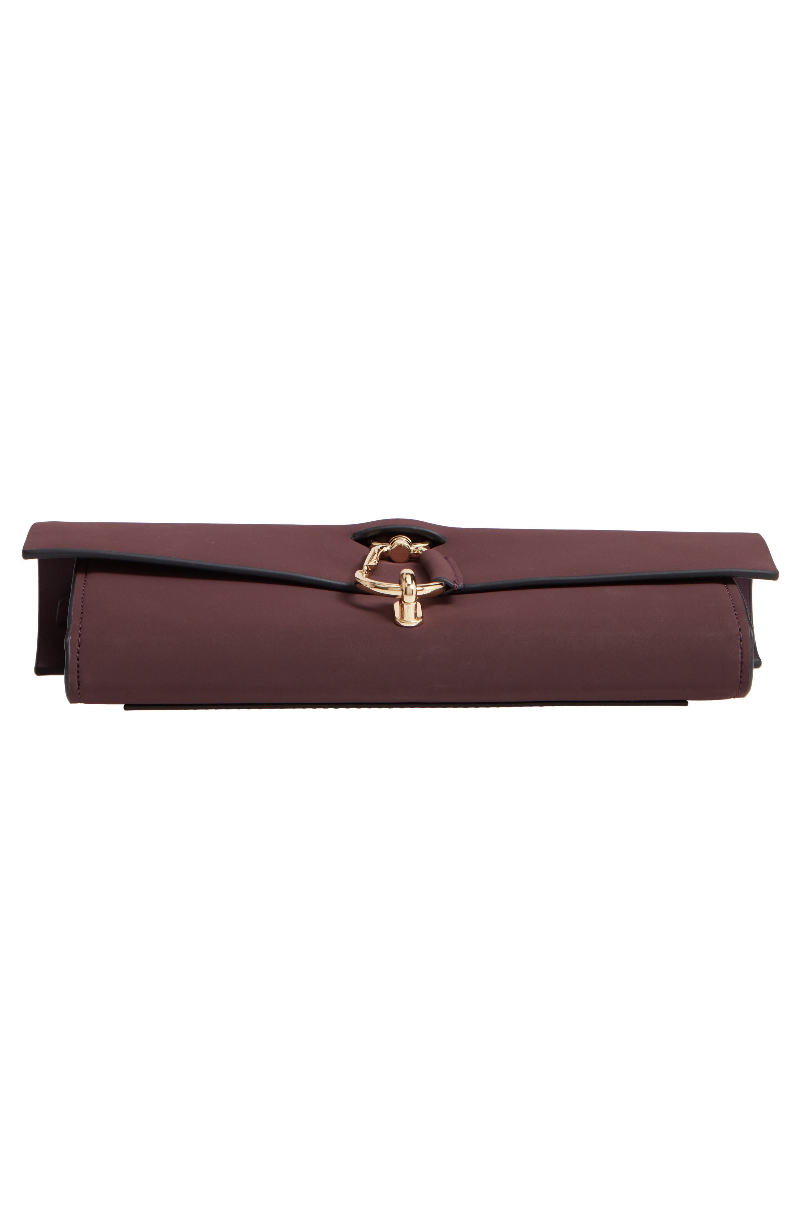 Belay Convertible Leather Clutch,                             Alternate thumbnail 6, color,                             VINEYARD