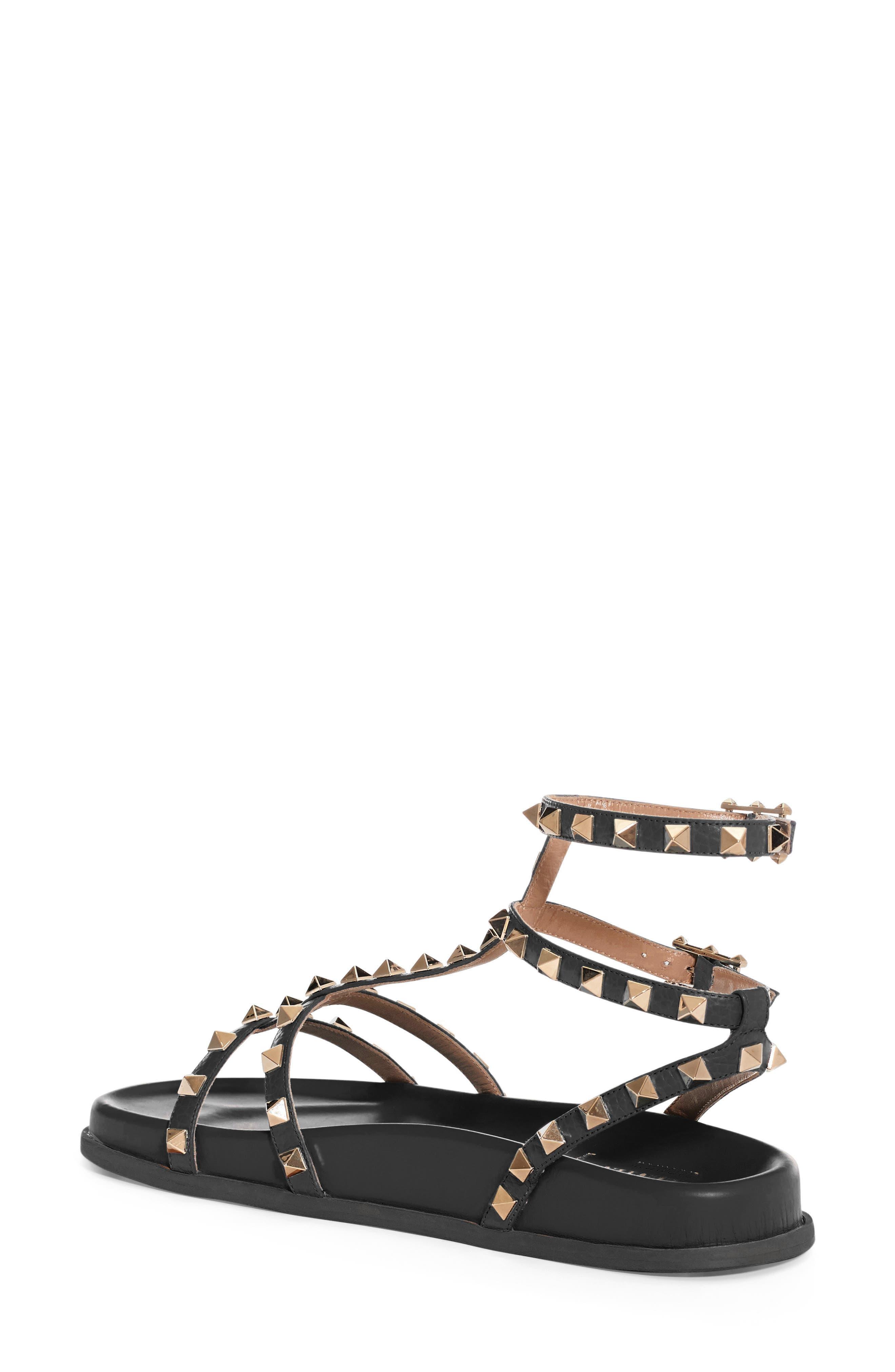 Rockstud Flatform Sandal,                             Alternate thumbnail 2, color,                             001