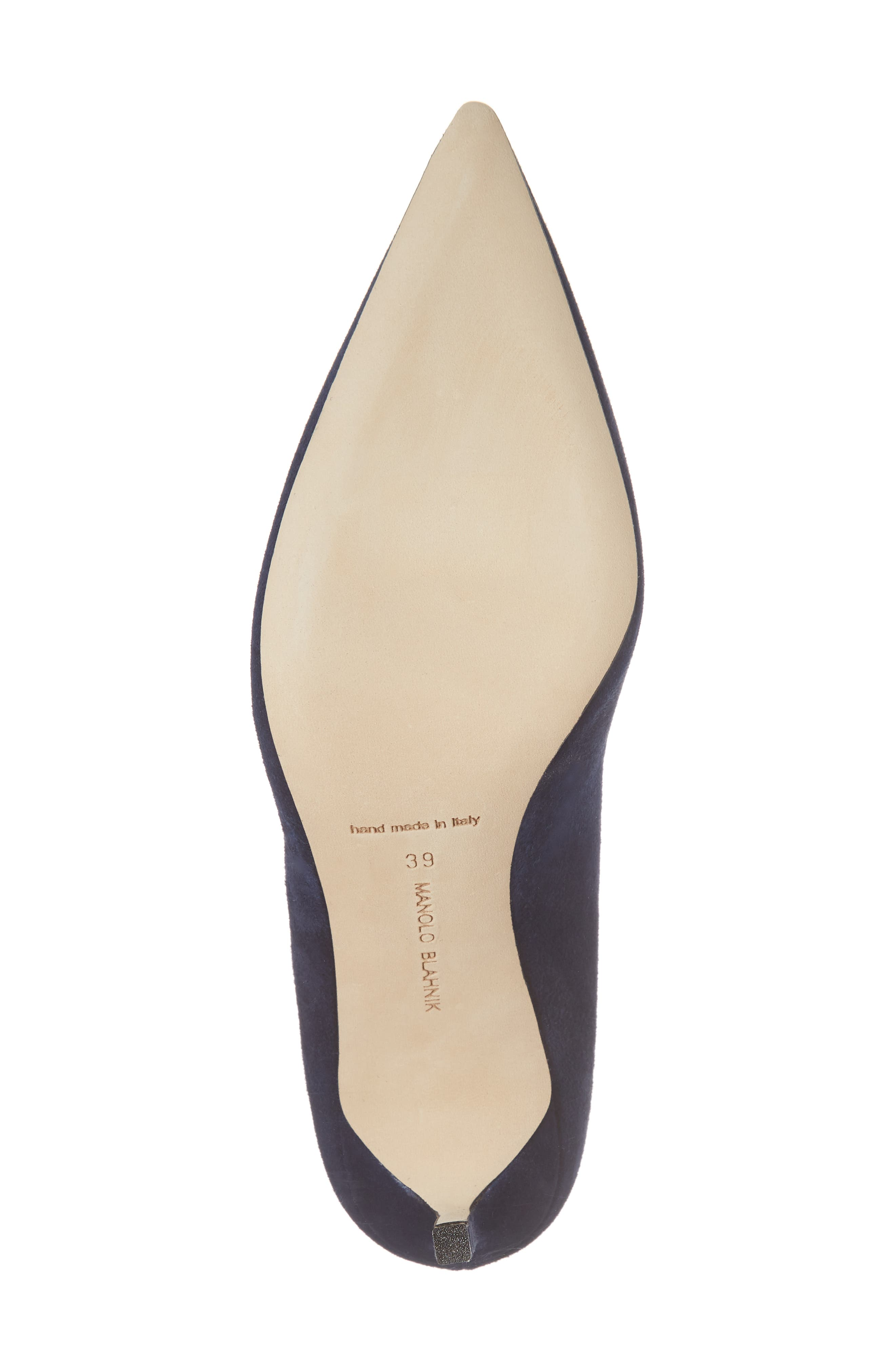 BB Pointy Toe Pump,                             Alternate thumbnail 6, color,                             NAVY SUEDE