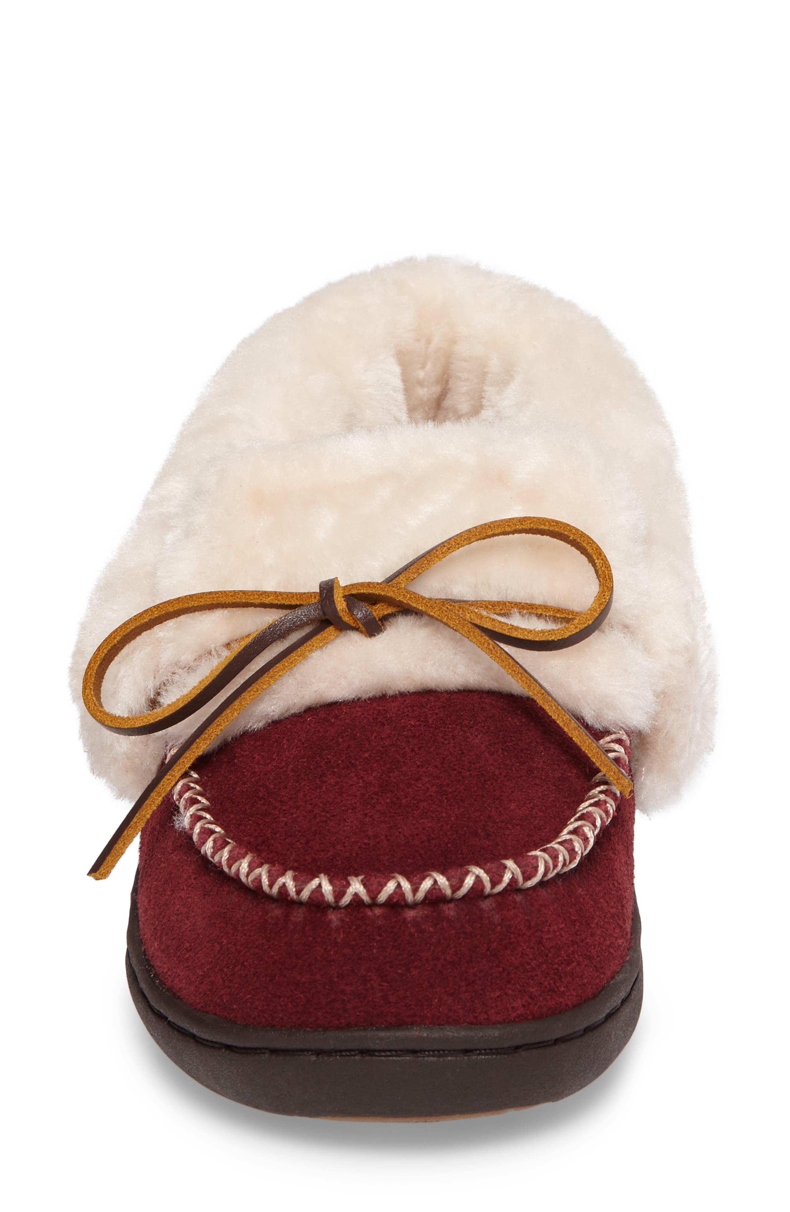 Laurin Slipper,                             Alternate thumbnail 4, color,                             RUBY SUEDE