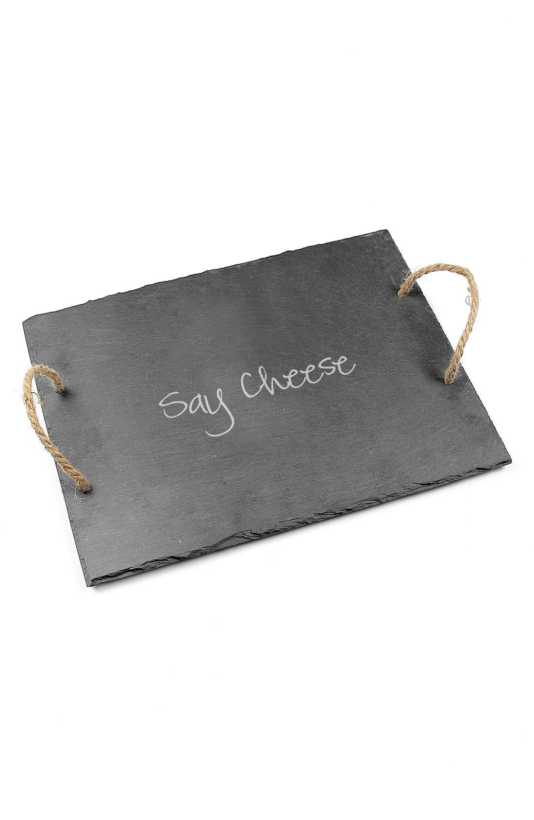 'Say Cheese' Slate Serving Board,                             Alternate thumbnail 2, color,                             020