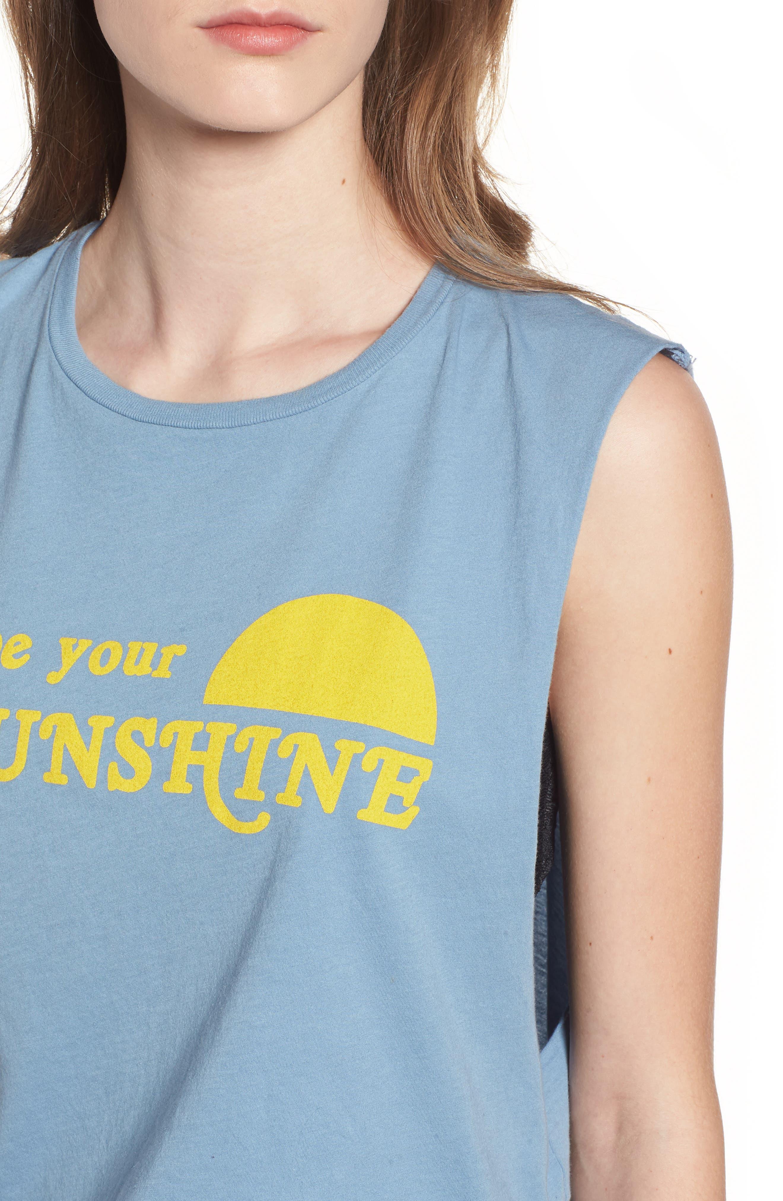 Sunshine Screenprint Muscle Tee,                             Alternate thumbnail 4, color,