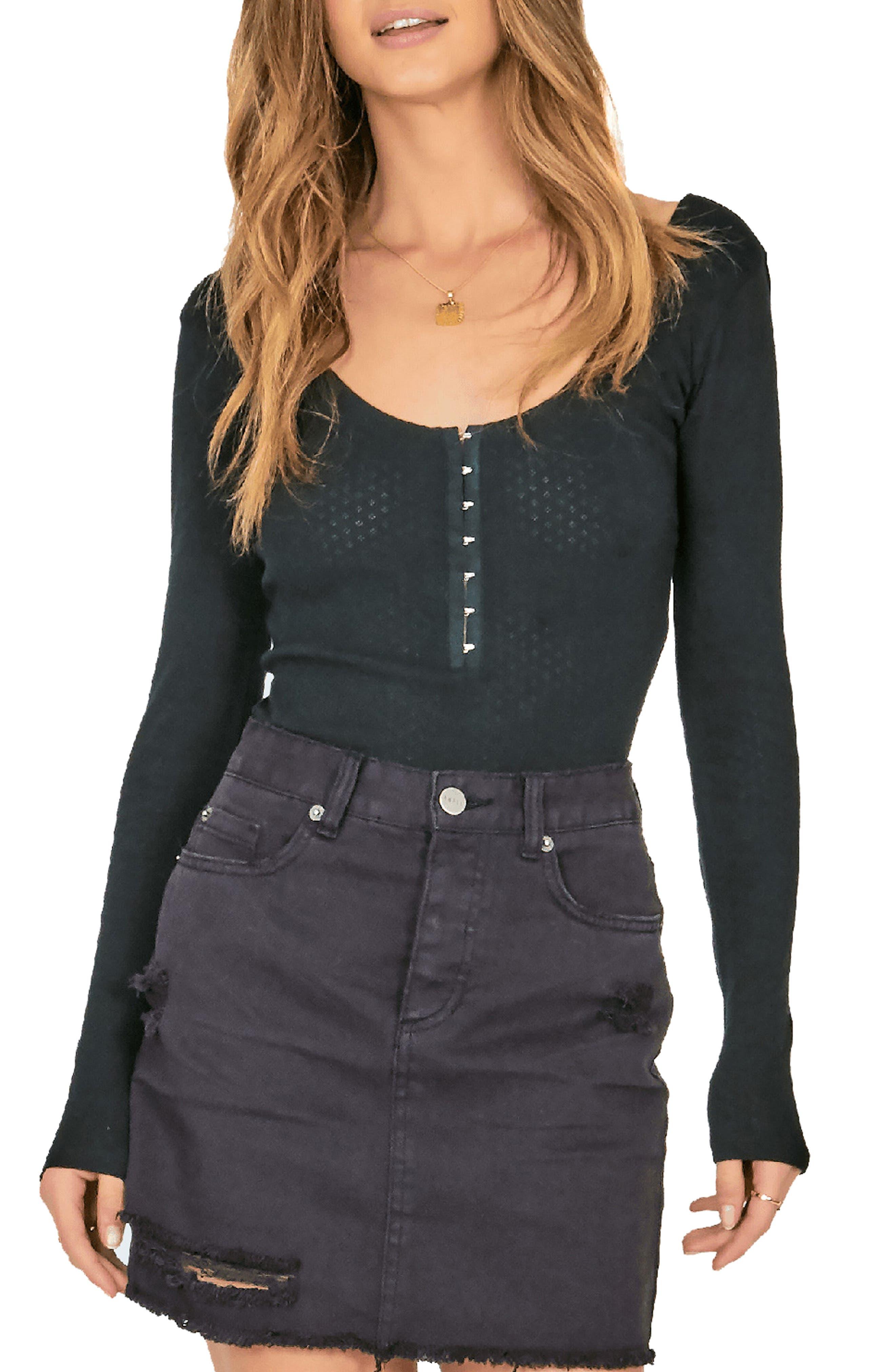 AMUSE SOCIETY Buena Suerte Bodysuit in Black
