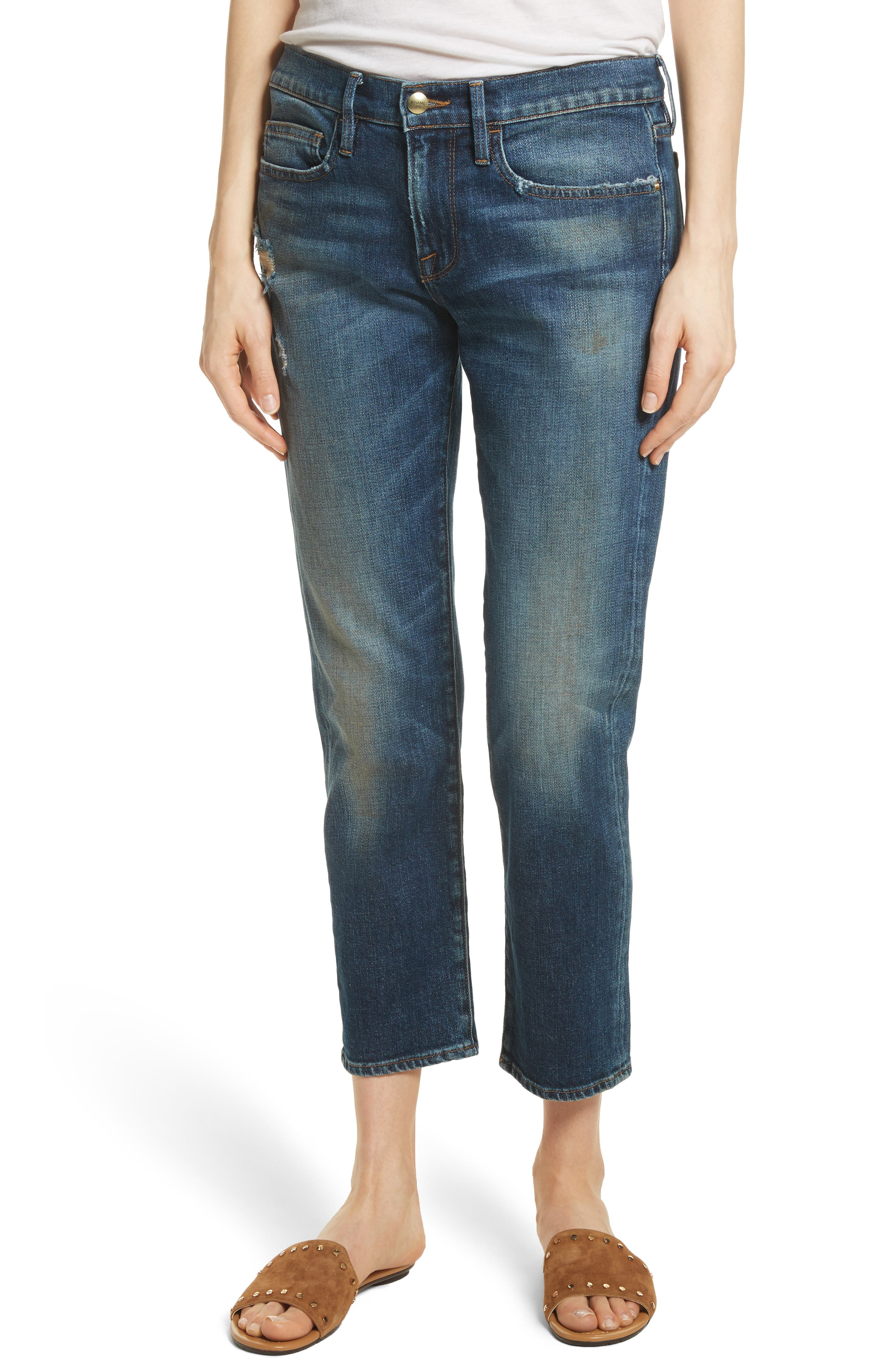 Straight Leg Jeans,                             Main thumbnail 1, color,