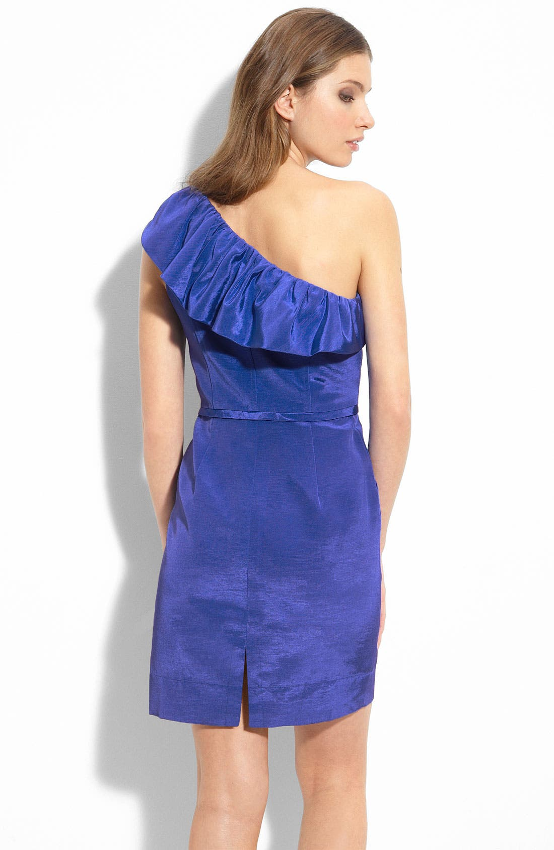 Ruffle One Shoulder Dress,                             Alternate thumbnail 2, color,                             400