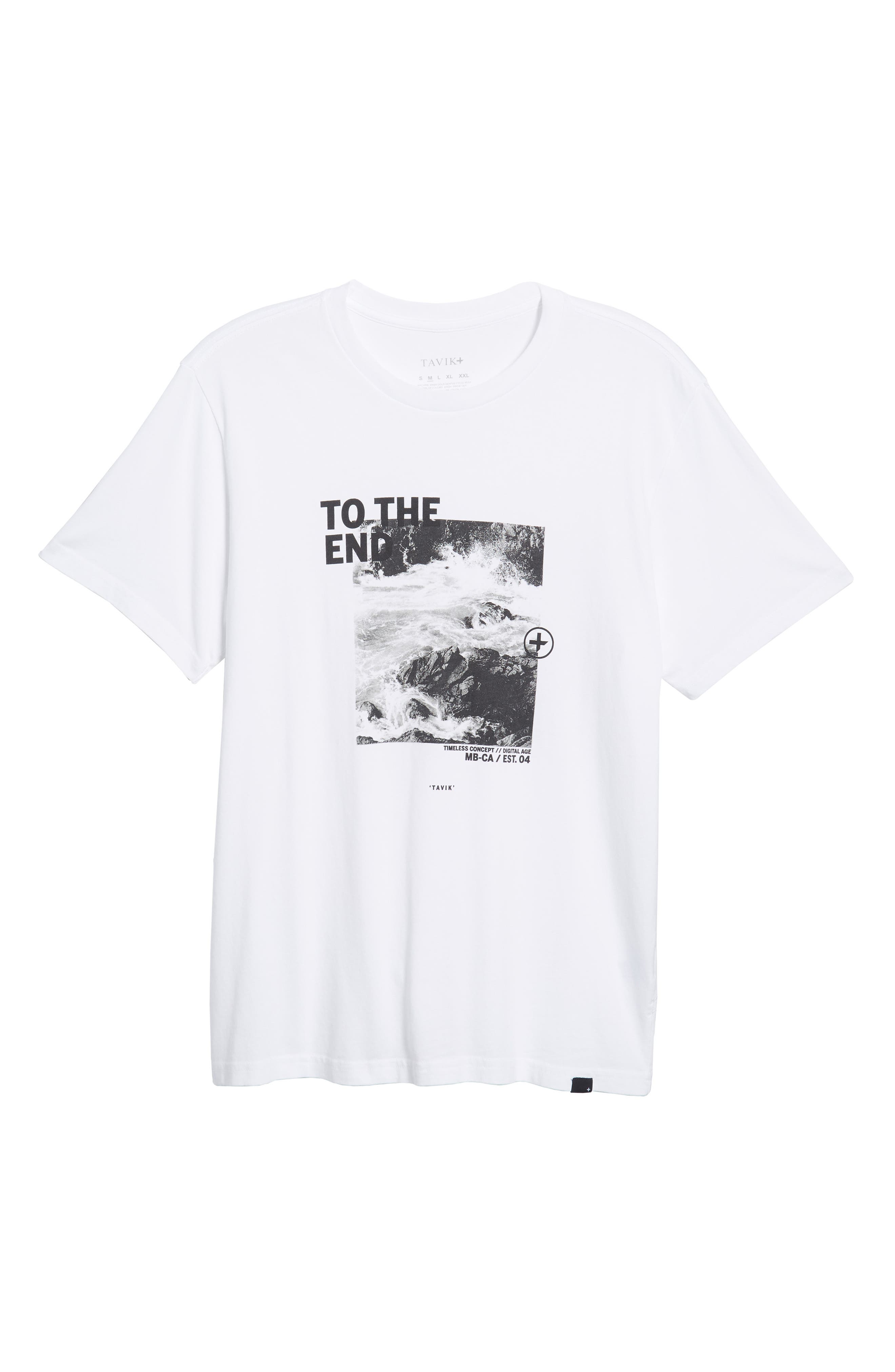 Clashing Graphic T-Shirt,                             Alternate thumbnail 6, color,                             WHITE