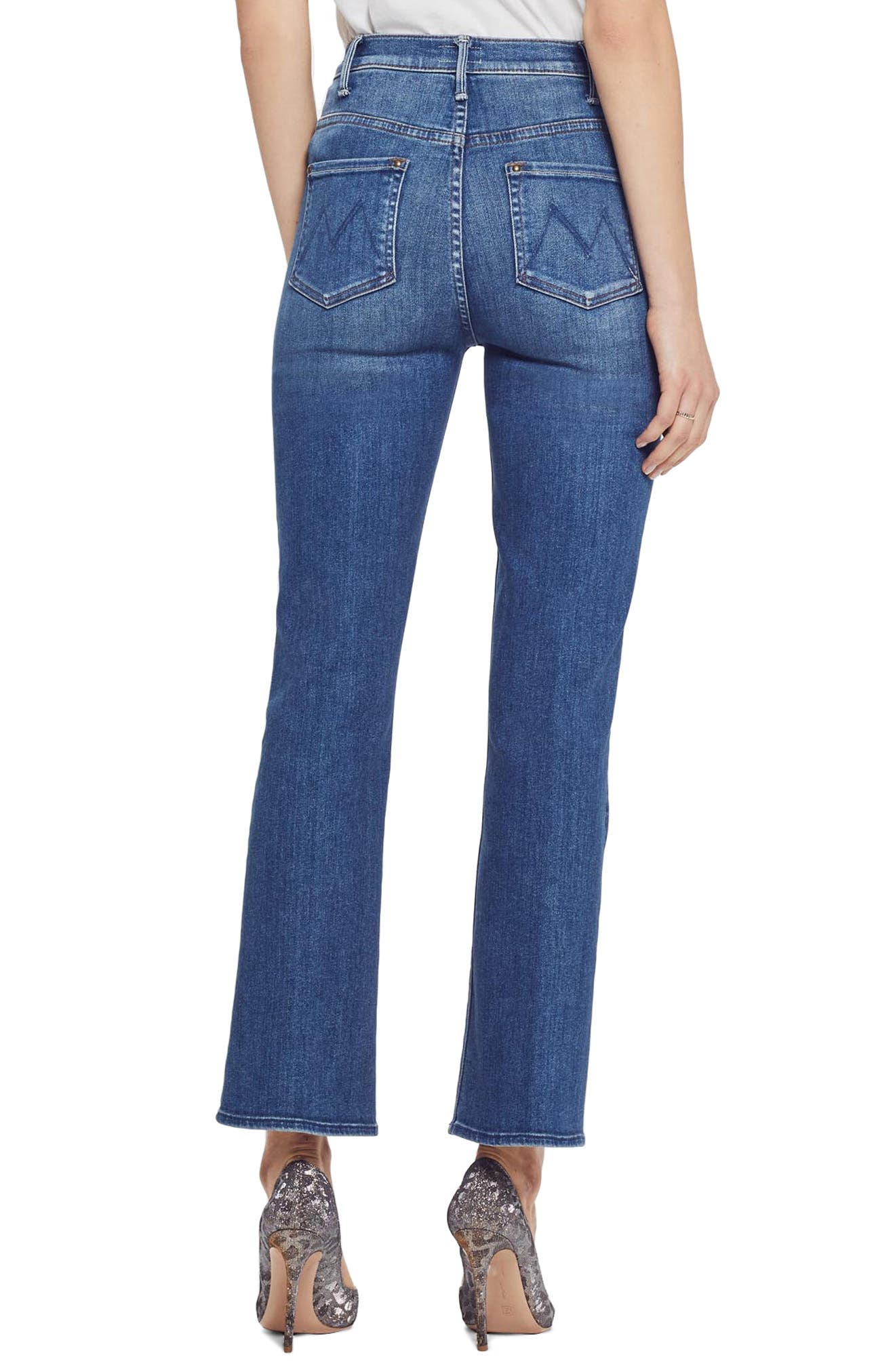 The Insider High Waist Patch Crop Bootcut Jeans,                             Alternate thumbnail 2, color,                             SATISFACTION GUARANTEED