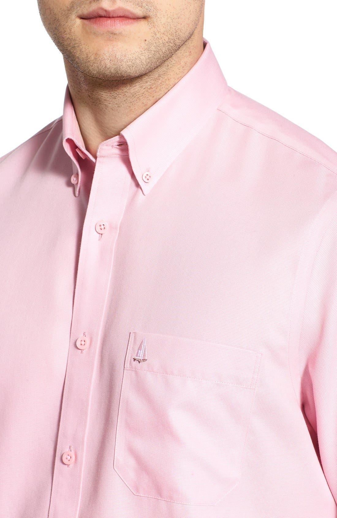 'Classic' Smartcare<sup>™</sup> Regular Fit Short Sleeve Cotton Sport Shirt,                             Alternate thumbnail 62, color,