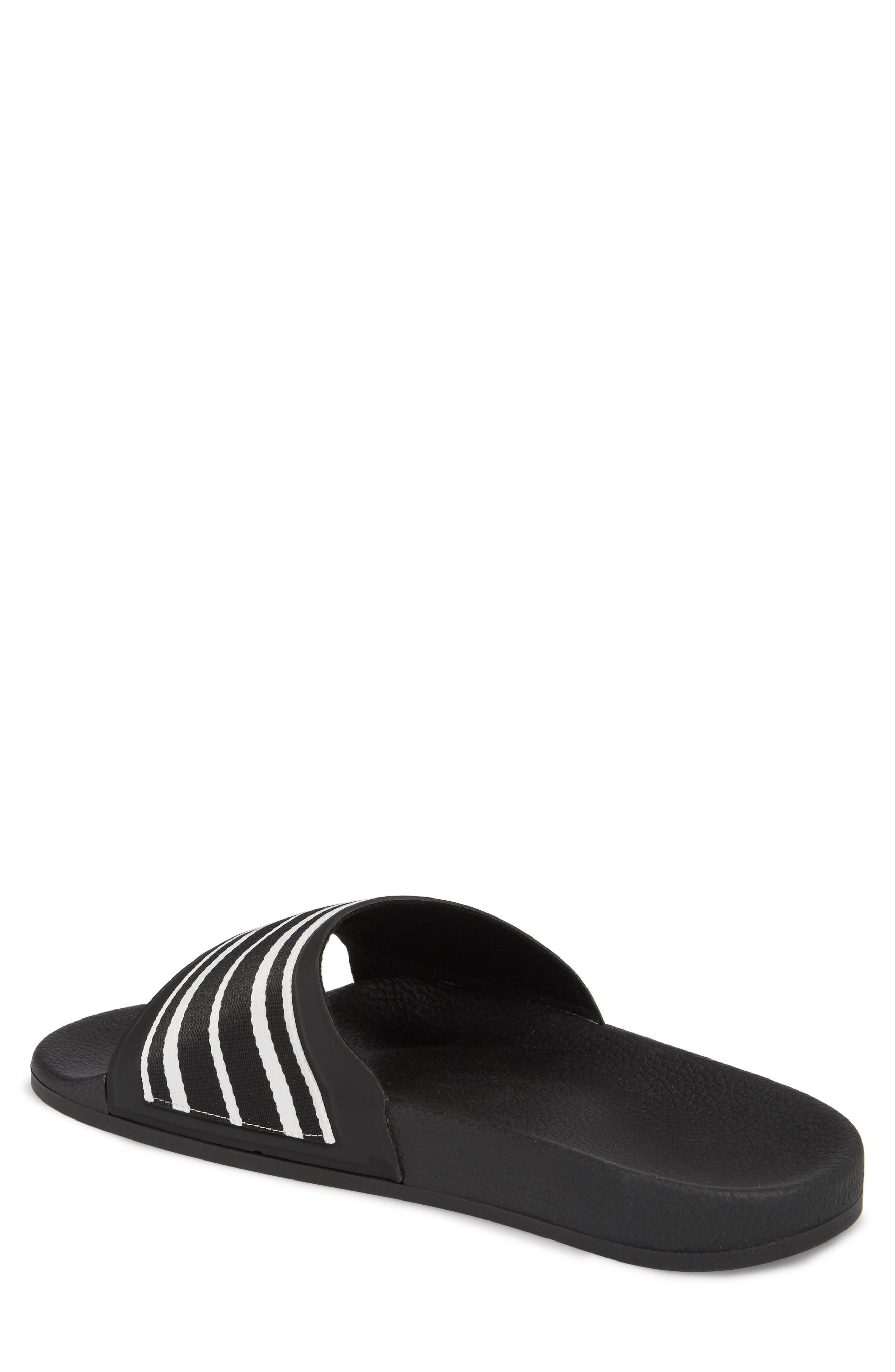 Patterned Sport Slide,                             Alternate thumbnail 2, color,                             BLACK/ BLACK