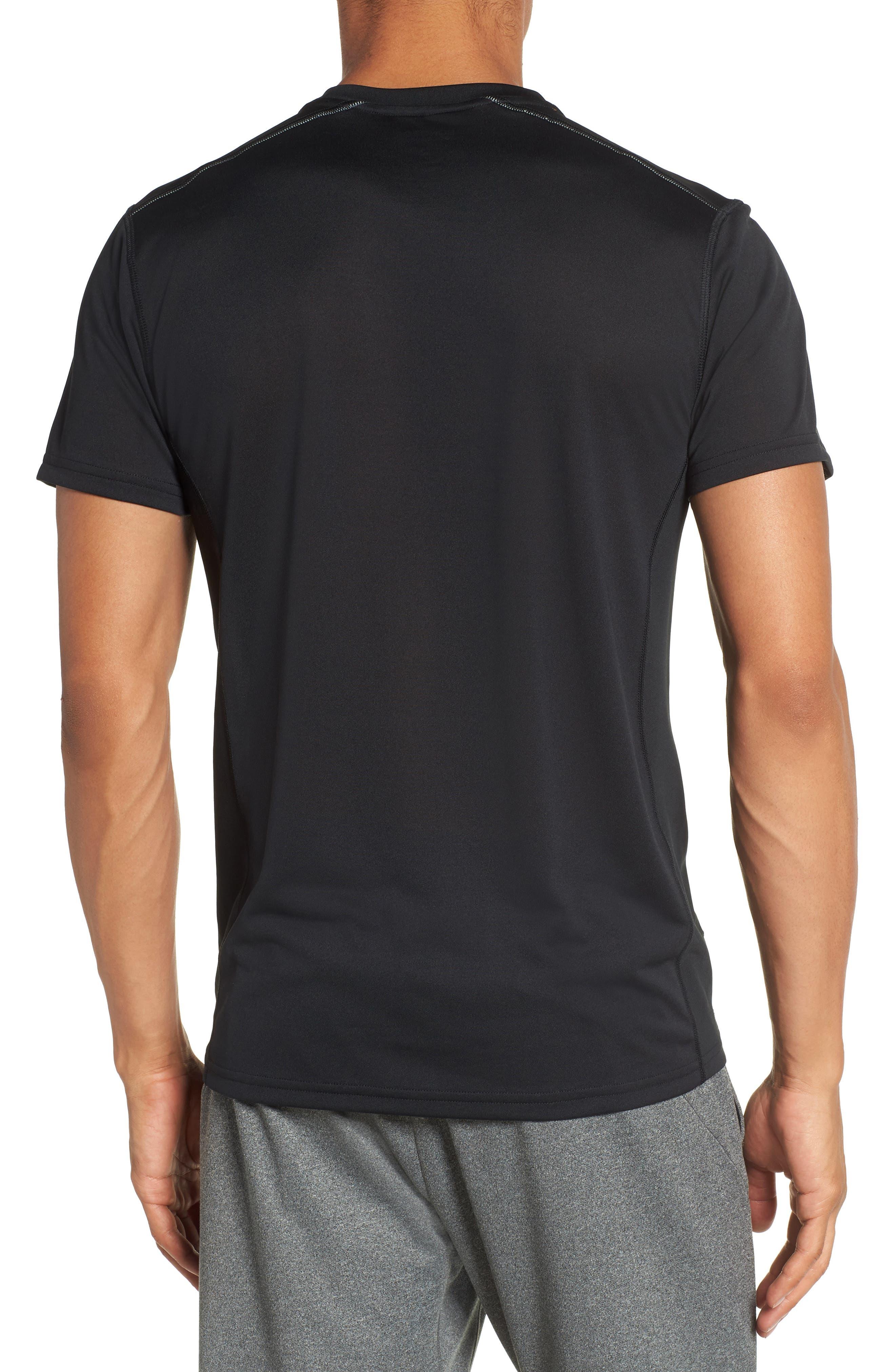 Goodsport Mesh Panel T-Shirt,                             Alternate thumbnail 2, color,                             001