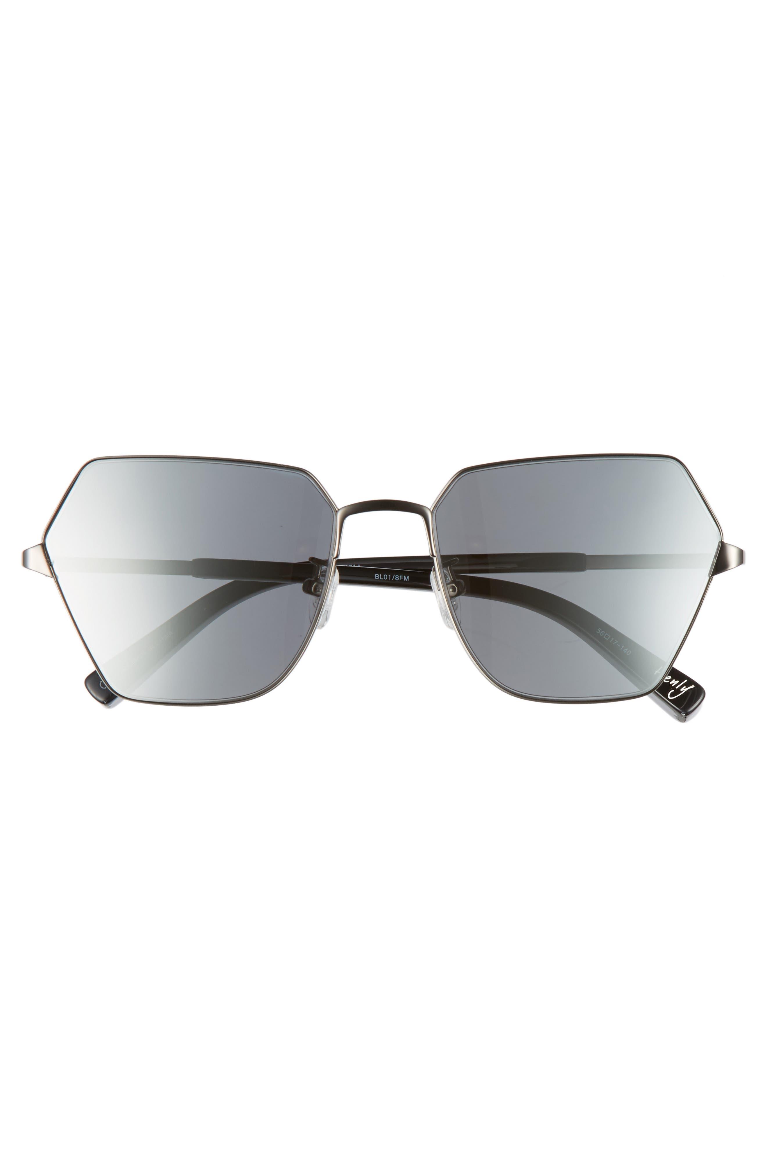 Henly 56mm Sunglasses,                             Alternate thumbnail 3, color,                             001