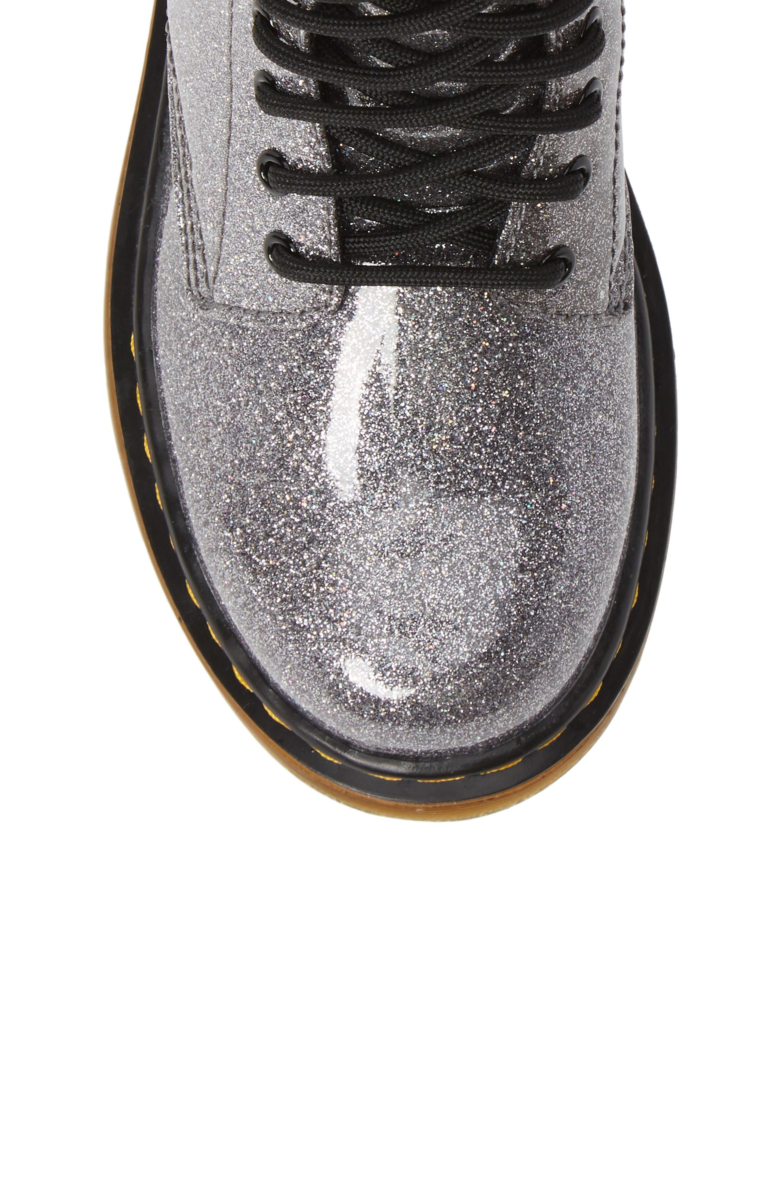 1460 Glitter Boot,                             Alternate thumbnail 5, color,                             GUNMETAL