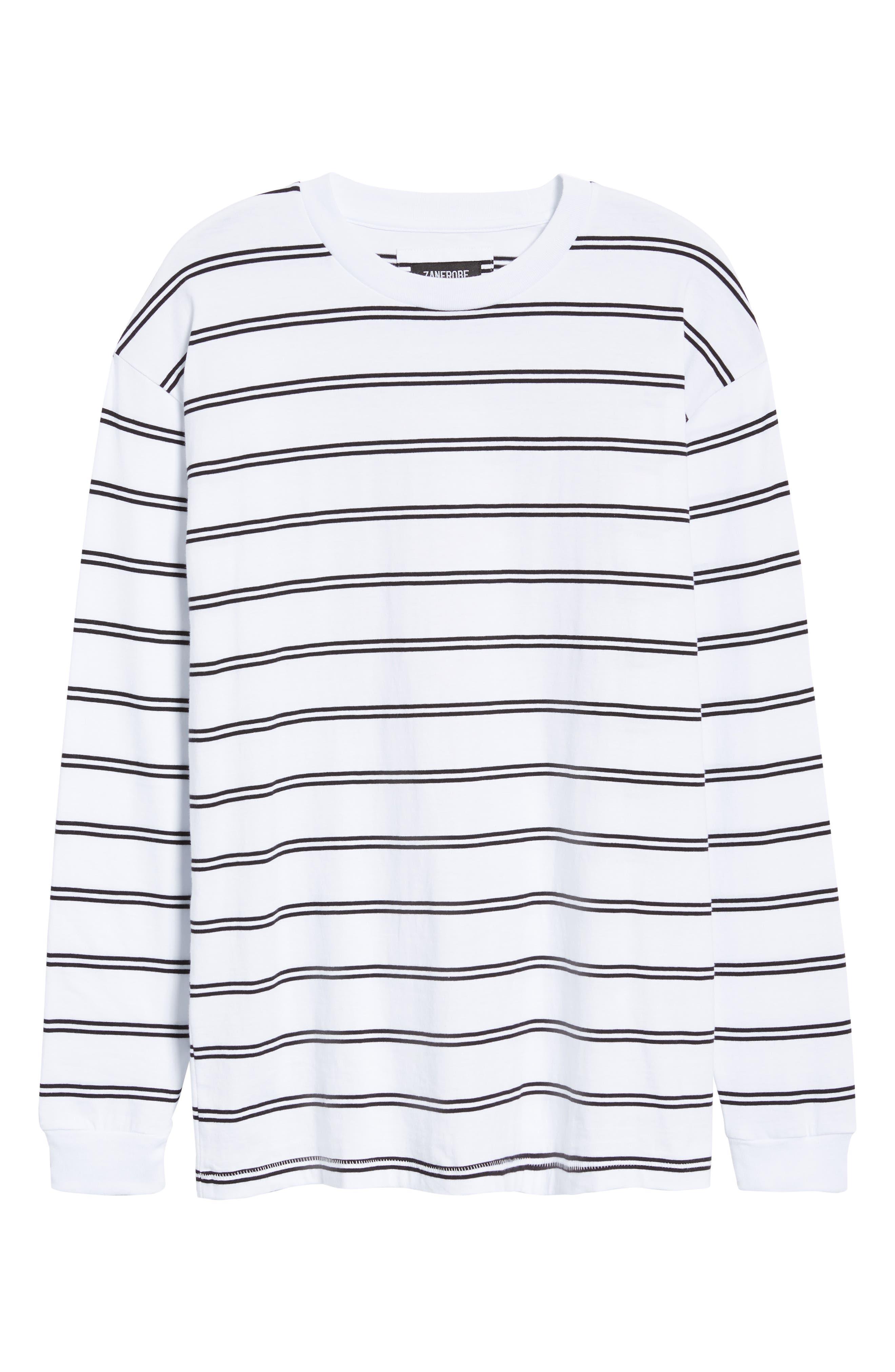 Channel Box Long Sleeve T-Shirt,                             Alternate thumbnail 6, color,                             100