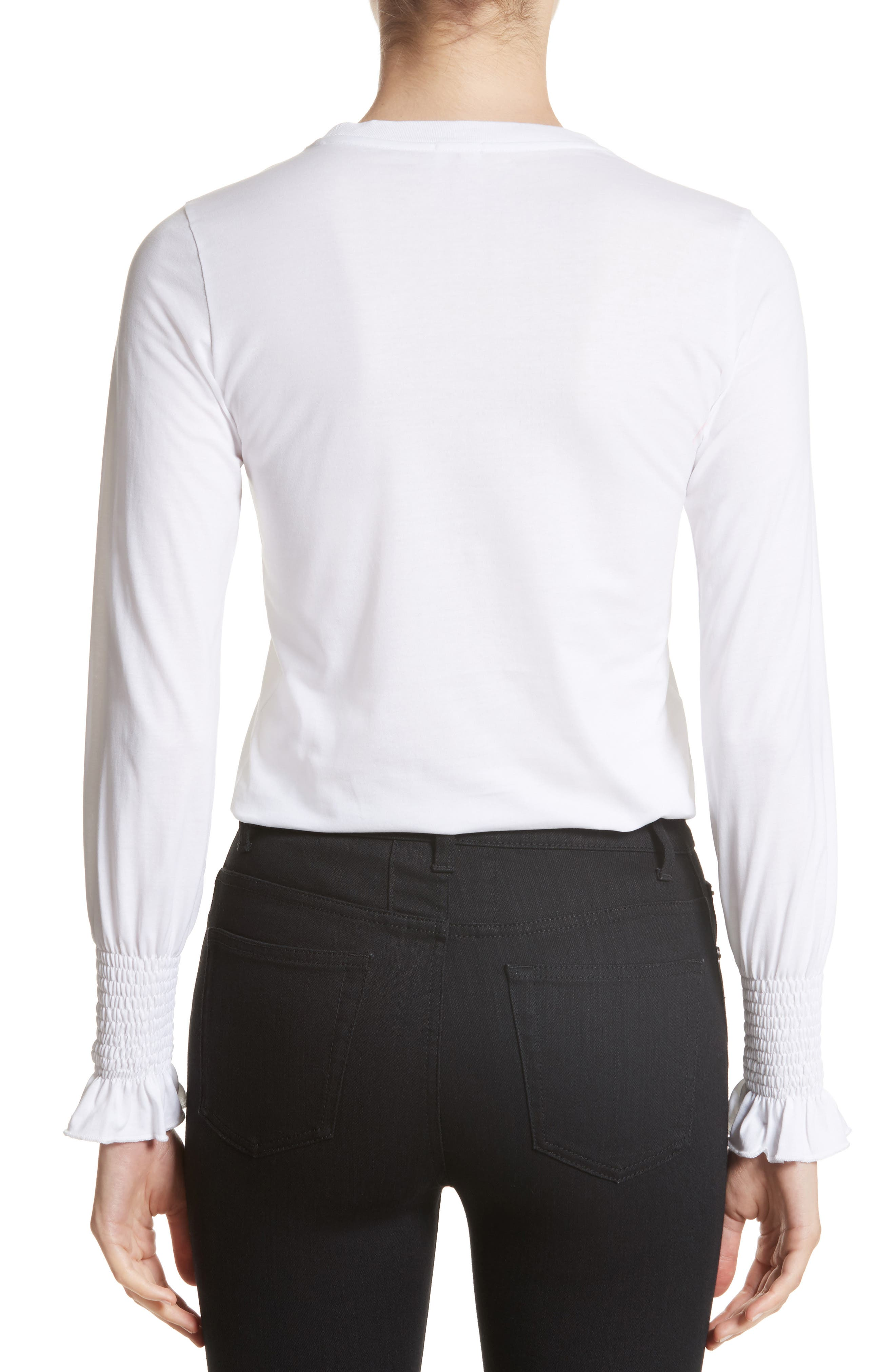 Maxwell Flare Cuff Jersey Top,                             Alternate thumbnail 2, color,                             100