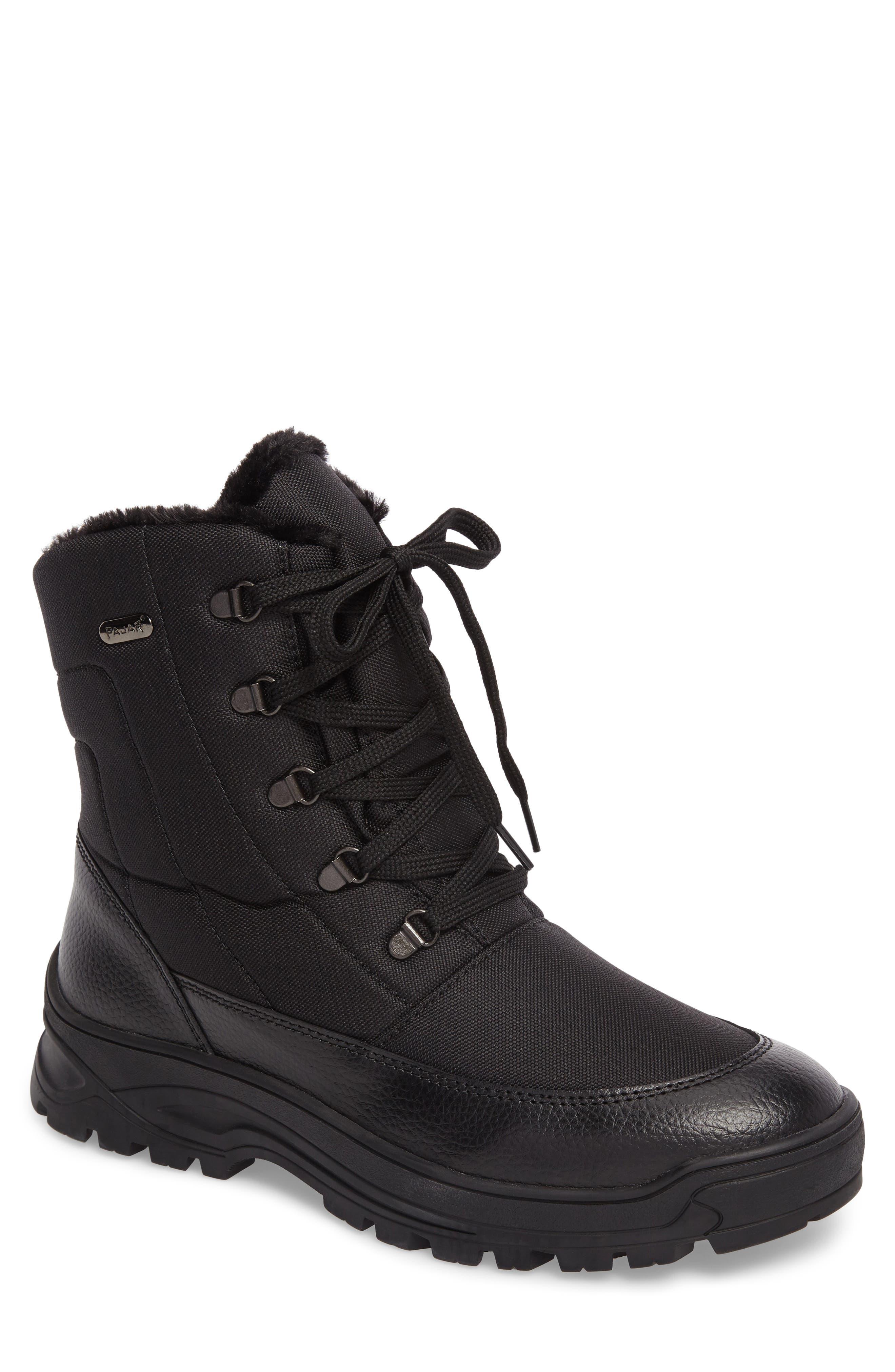 Trigger Winter Waterproof Boot,                         Main,                         color, BLACK
