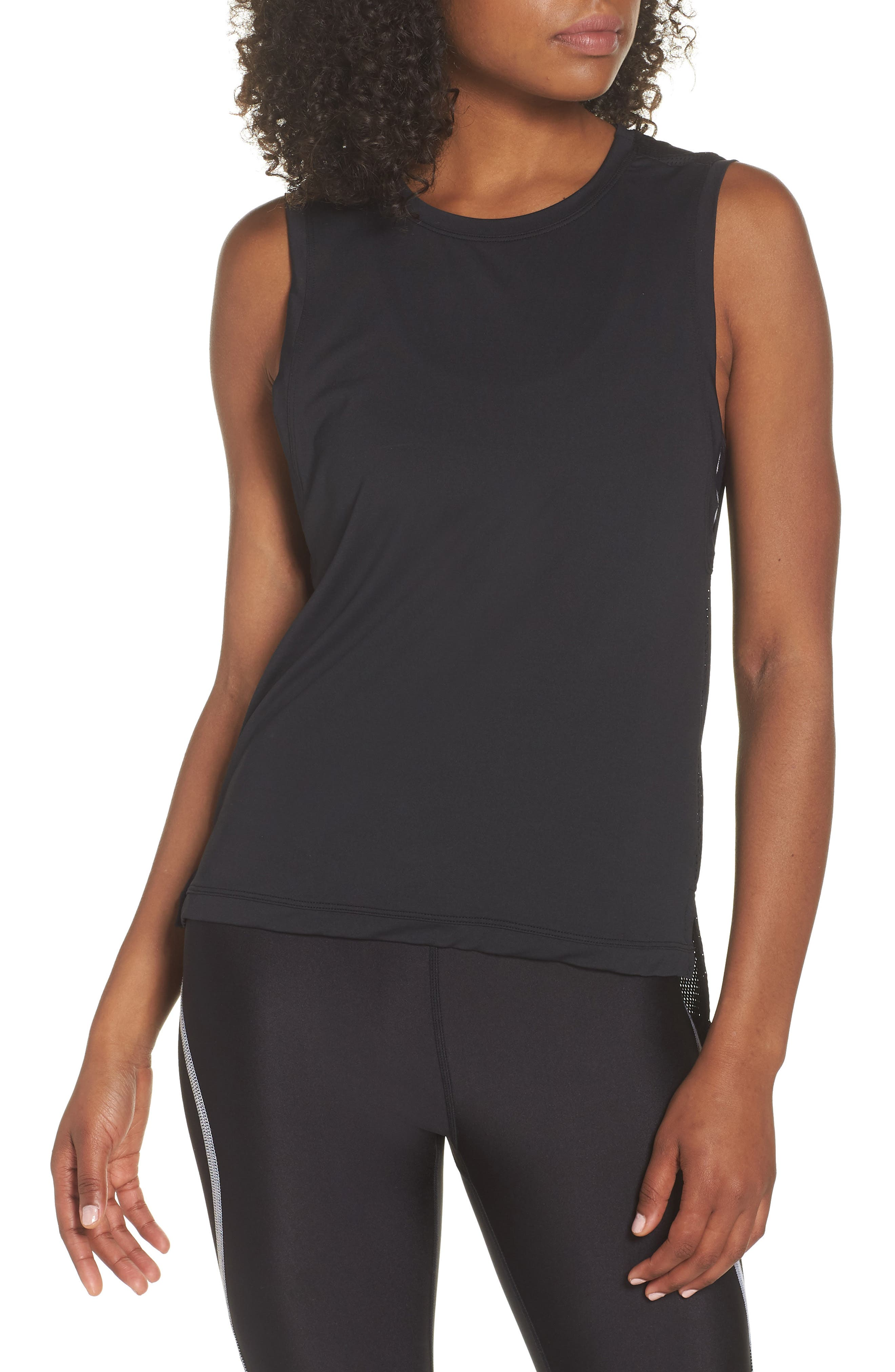 Skimm Mesh Back Tank,                         Main,                         color, 001
