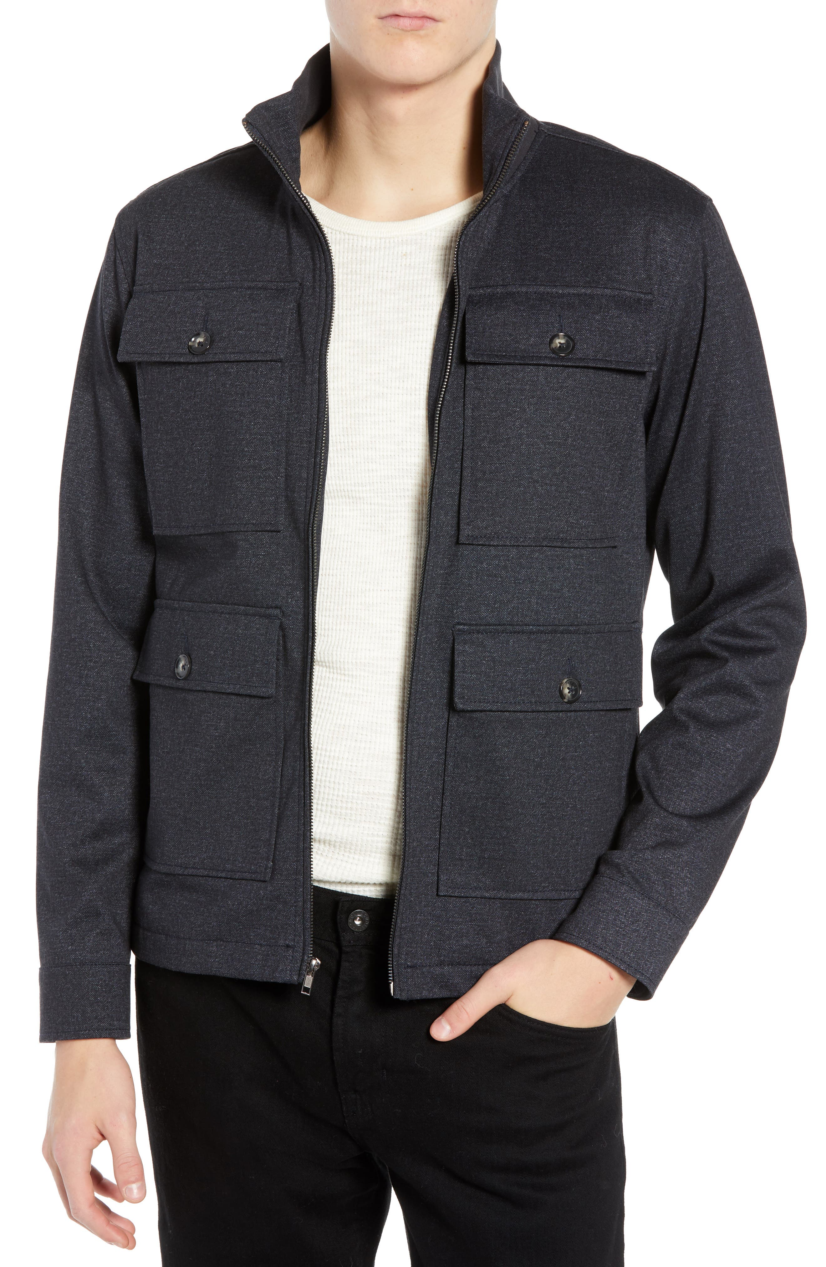 The Best 4-Pocket Jacket,                         Main,                         color, NAVY