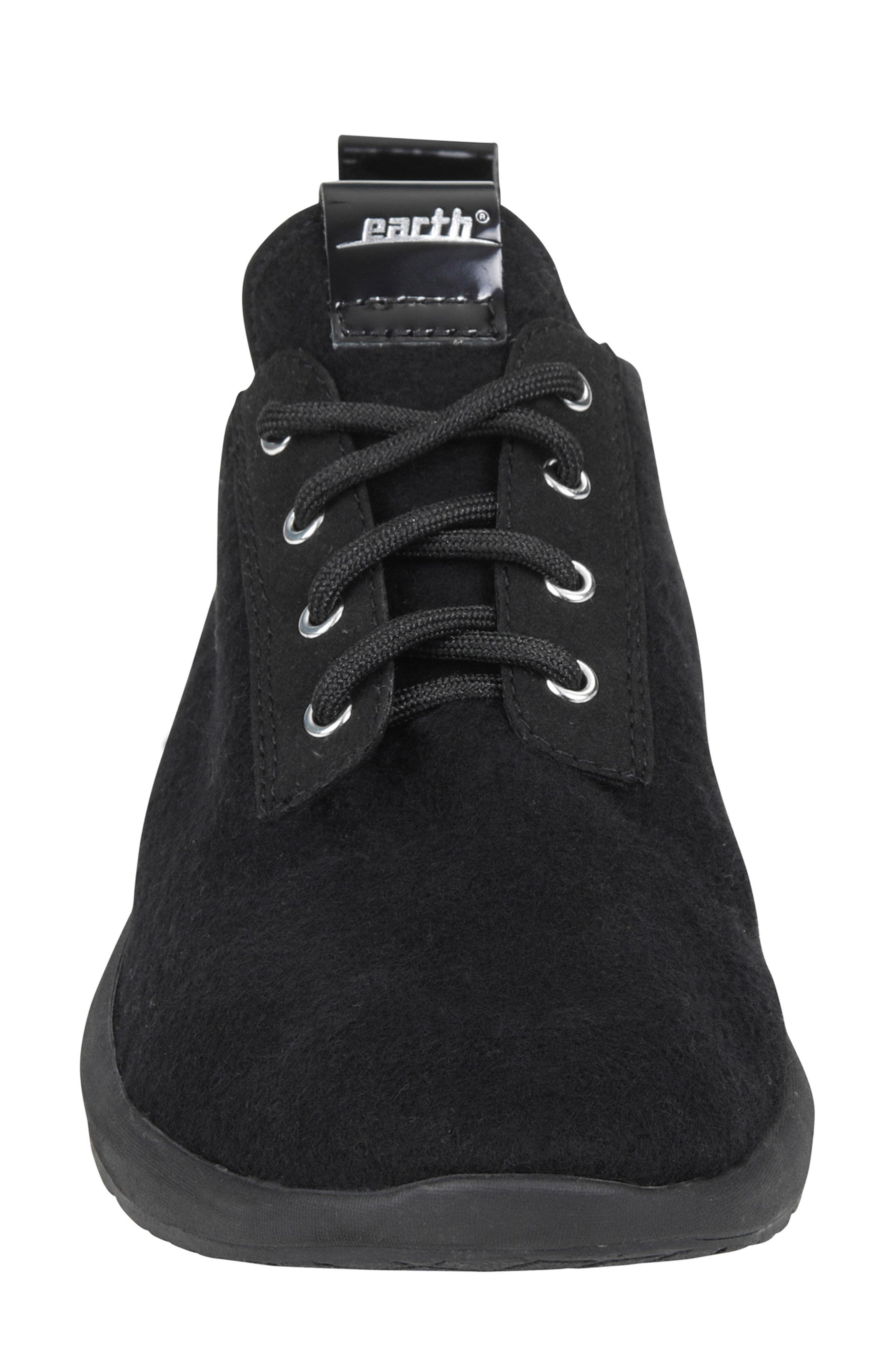 Boomer Sneaker,                             Alternate thumbnail 4, color,                             BLACK FABRIC