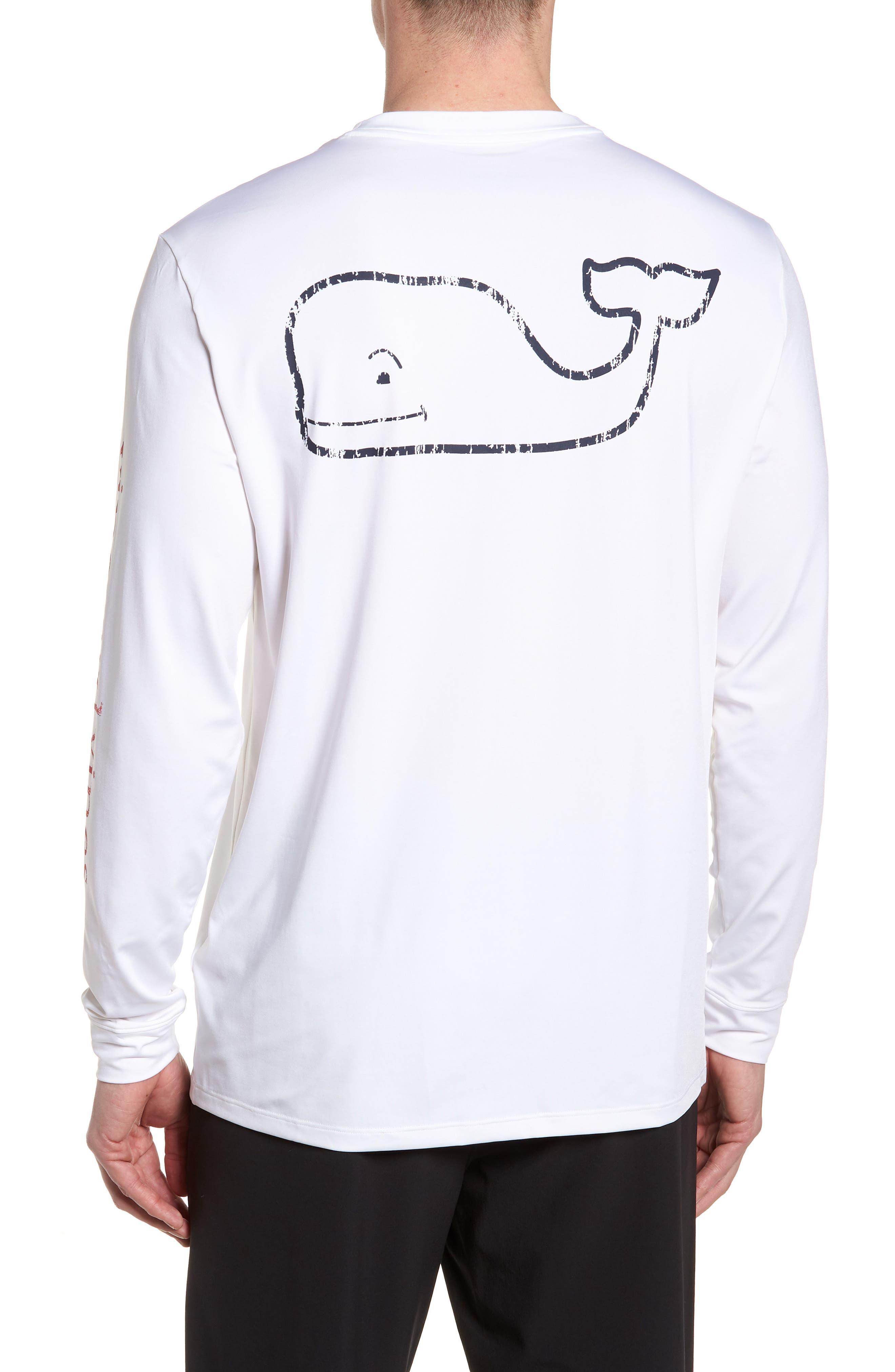 Vintage Whale Performance T-Shirt,                             Alternate thumbnail 4, color,