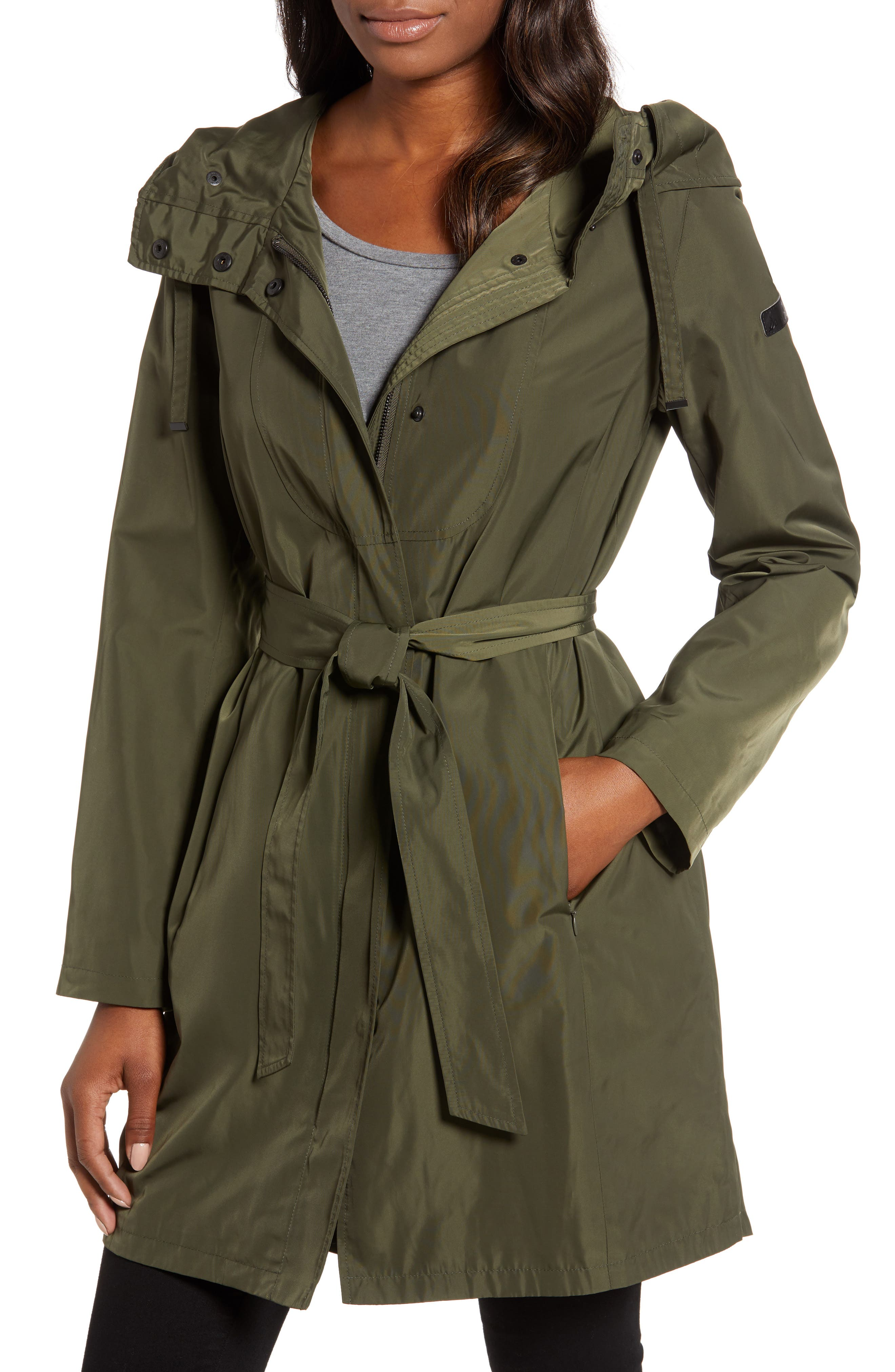 Hooded Coat, Main, color, LODEN