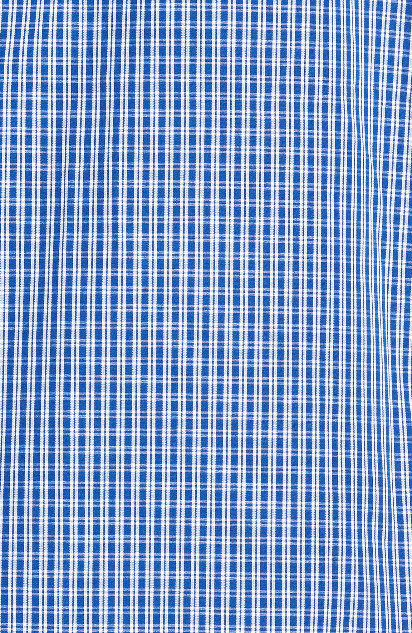 Poplin Pajama Set,                             Alternate thumbnail 5, color,                             BLUE DEEP MICRO CHECK